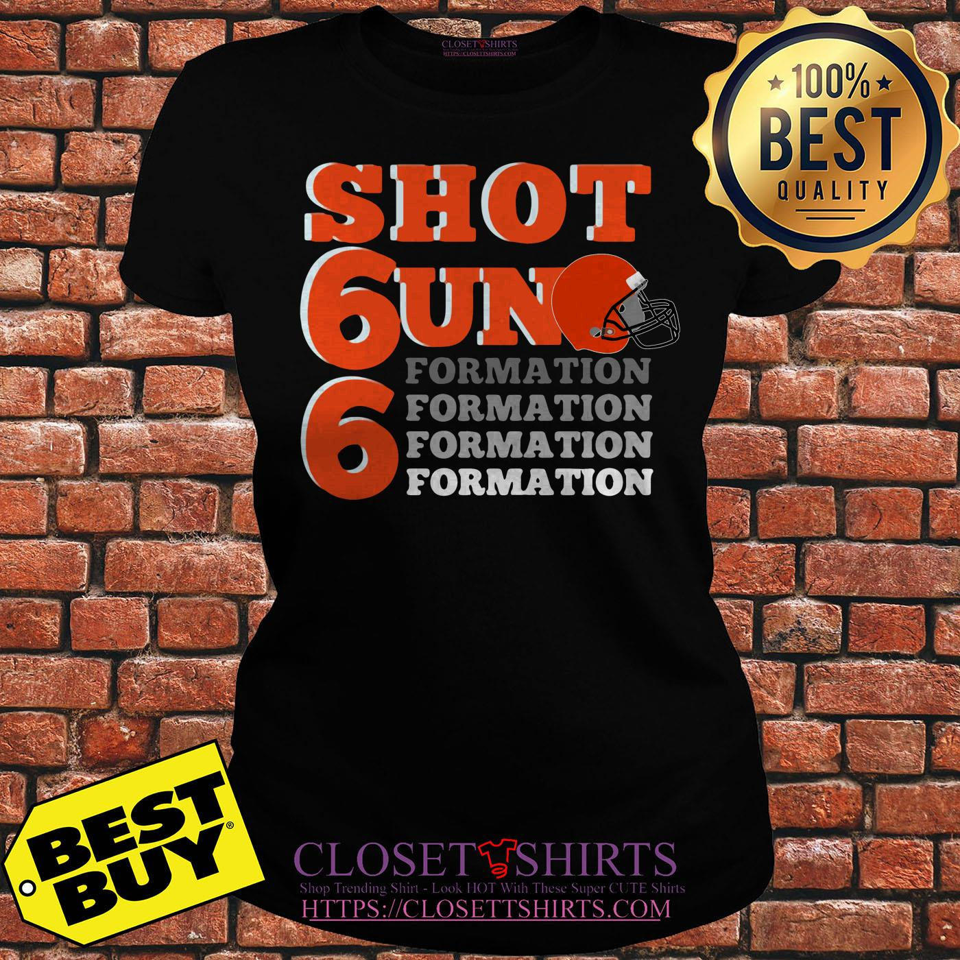 Shotgun Formation Cleveland Baseball ladies tee