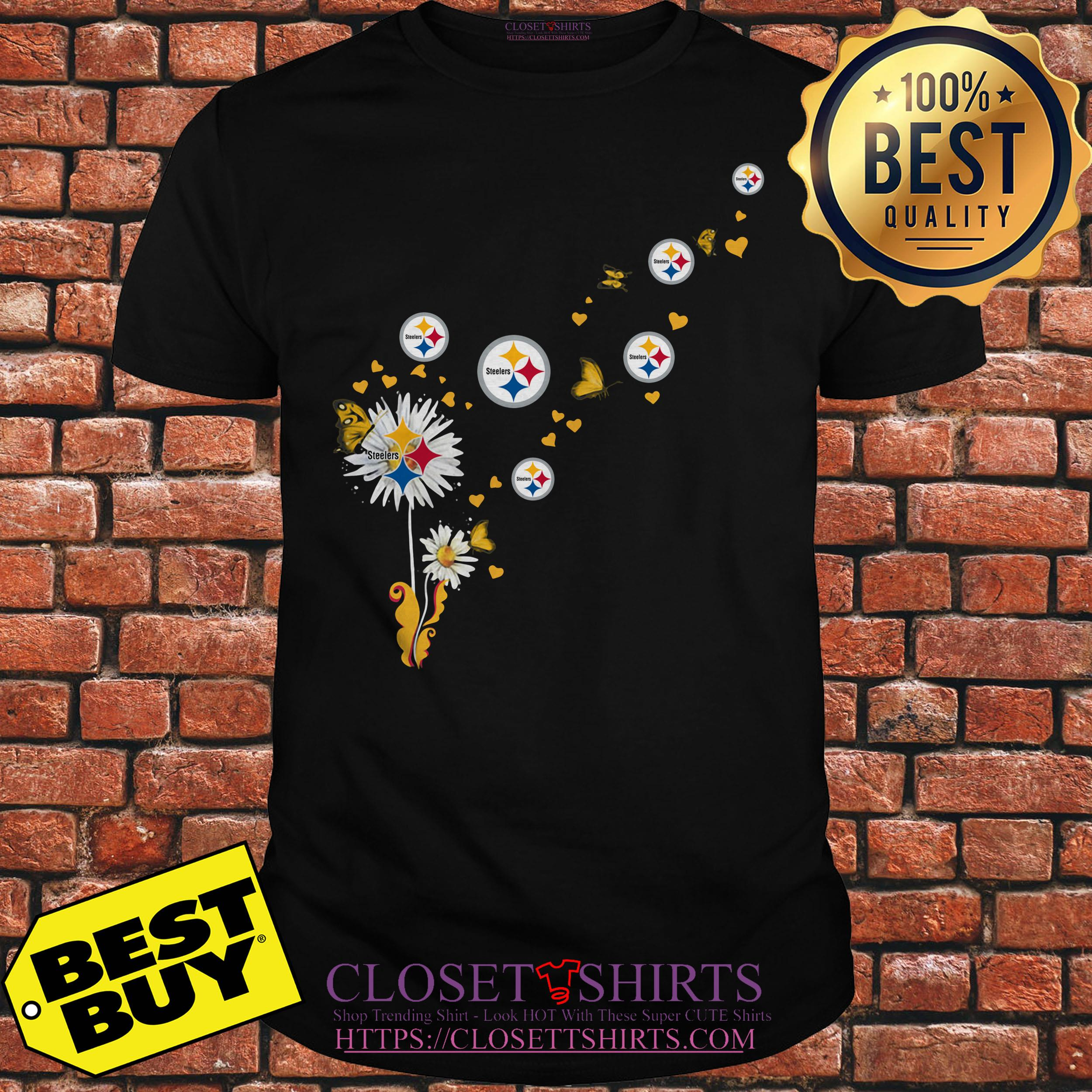 newest 0fcb6 94a87 Steelers Pittsburgh logo Butterfly fly shirt, ladies tee ...