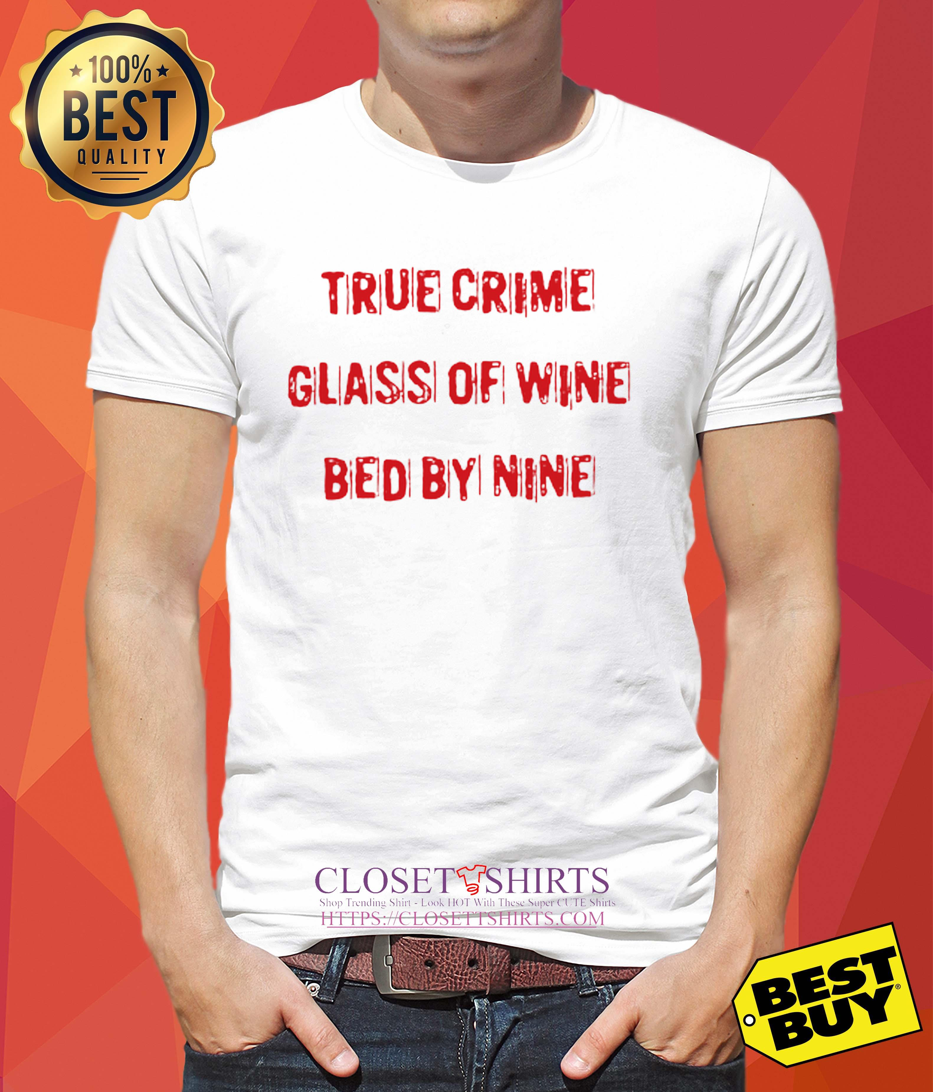 True Crime Glass Of Wine In Bed By Nine tank top