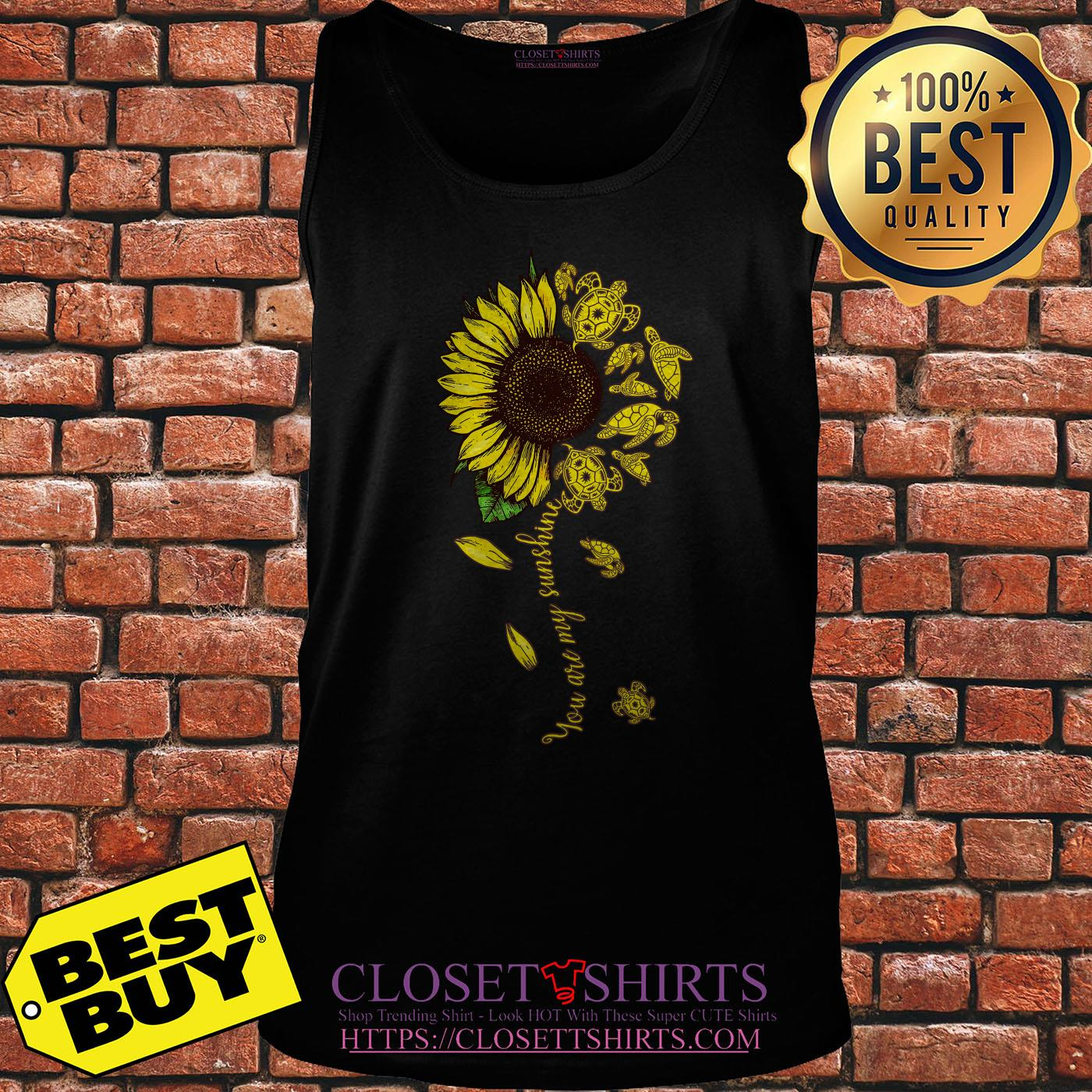 Turtle Sunflower You Are My Sunshine tank top