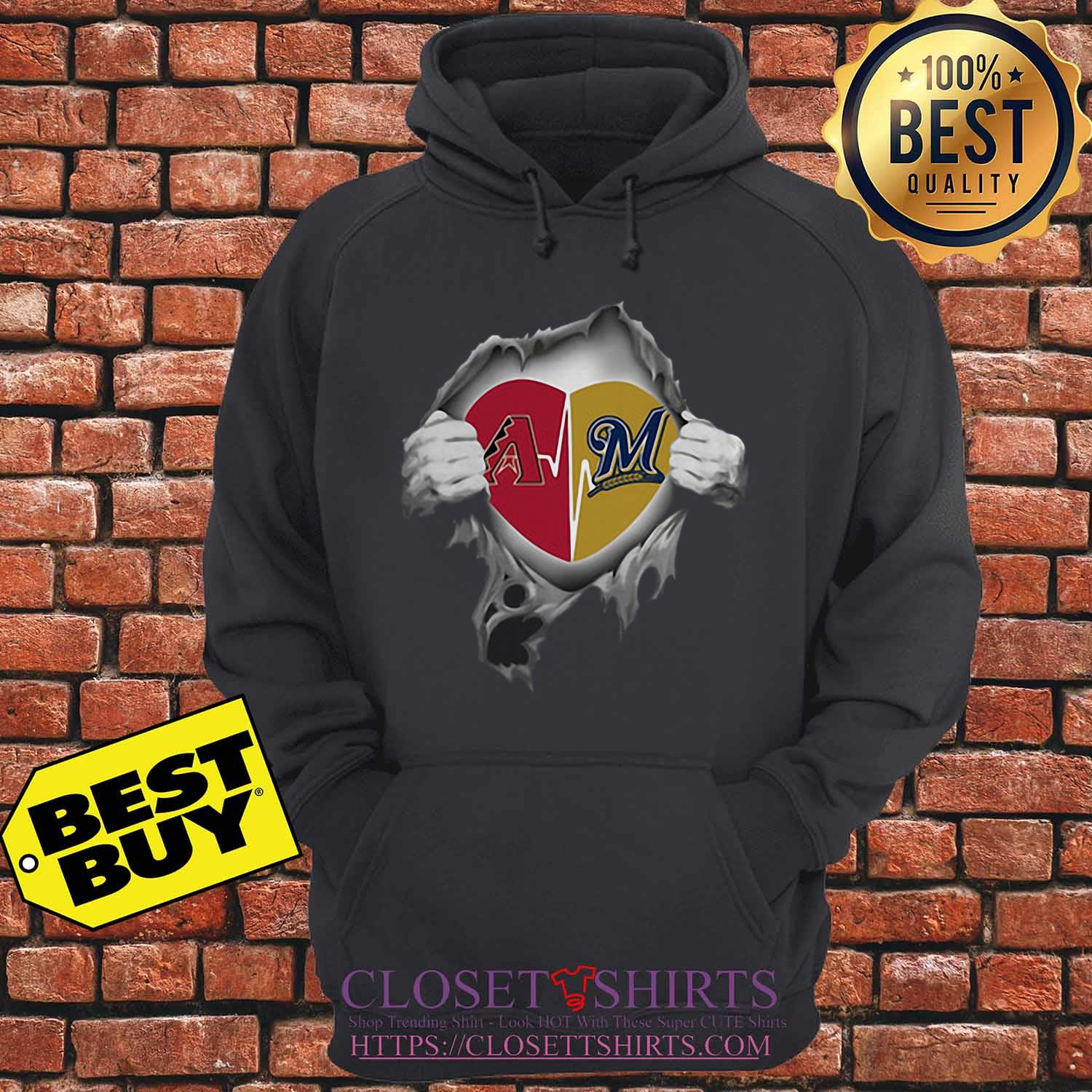 Arizona Diamondbacks Blood Inside Me Milwaukee Brewers hoodie