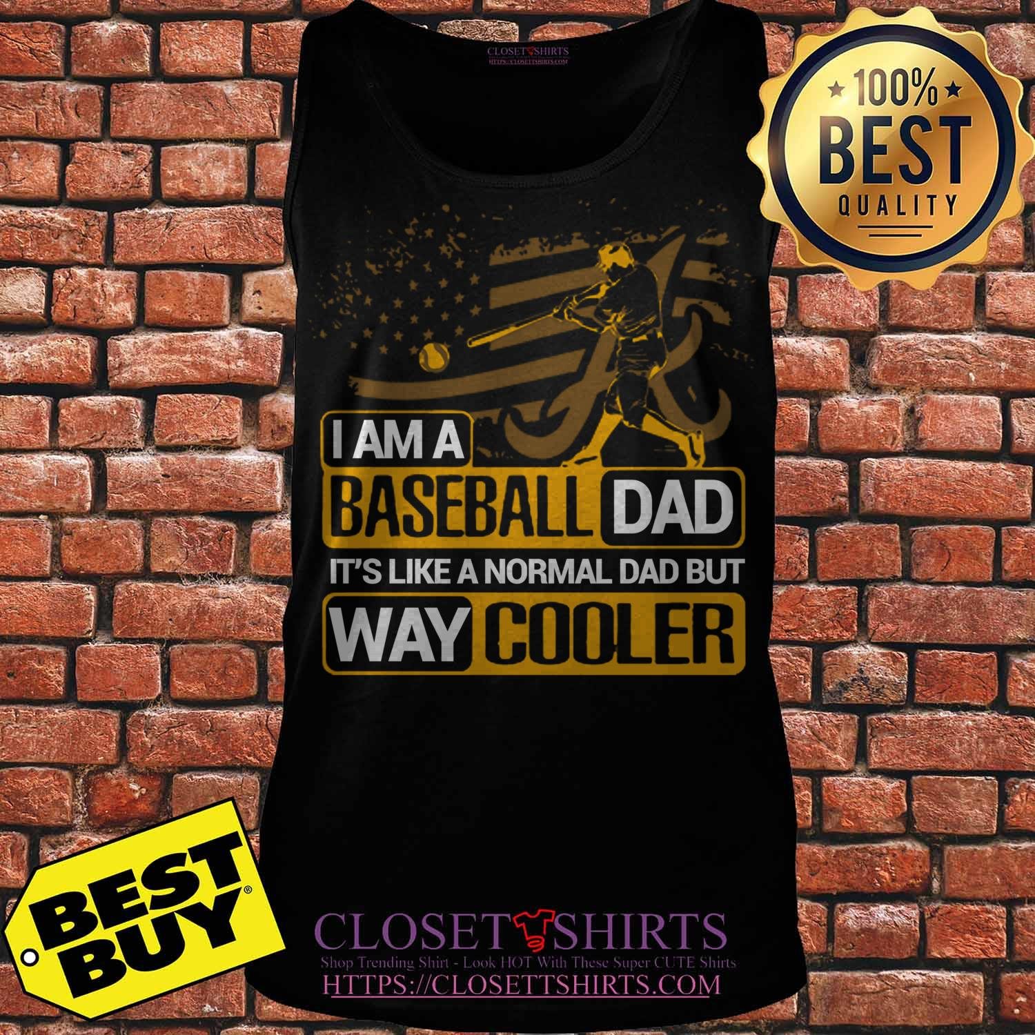 Alabama Crimson Tide I Am A Baseball Dad Way Cooler tank top