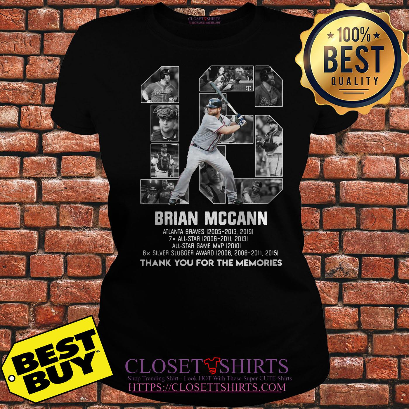 Brian Mccann Signature Thank You For The Memories ladies tee