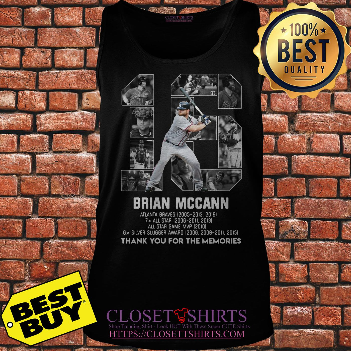 Brian Mccann Signature Thank You For The Memories tank top
