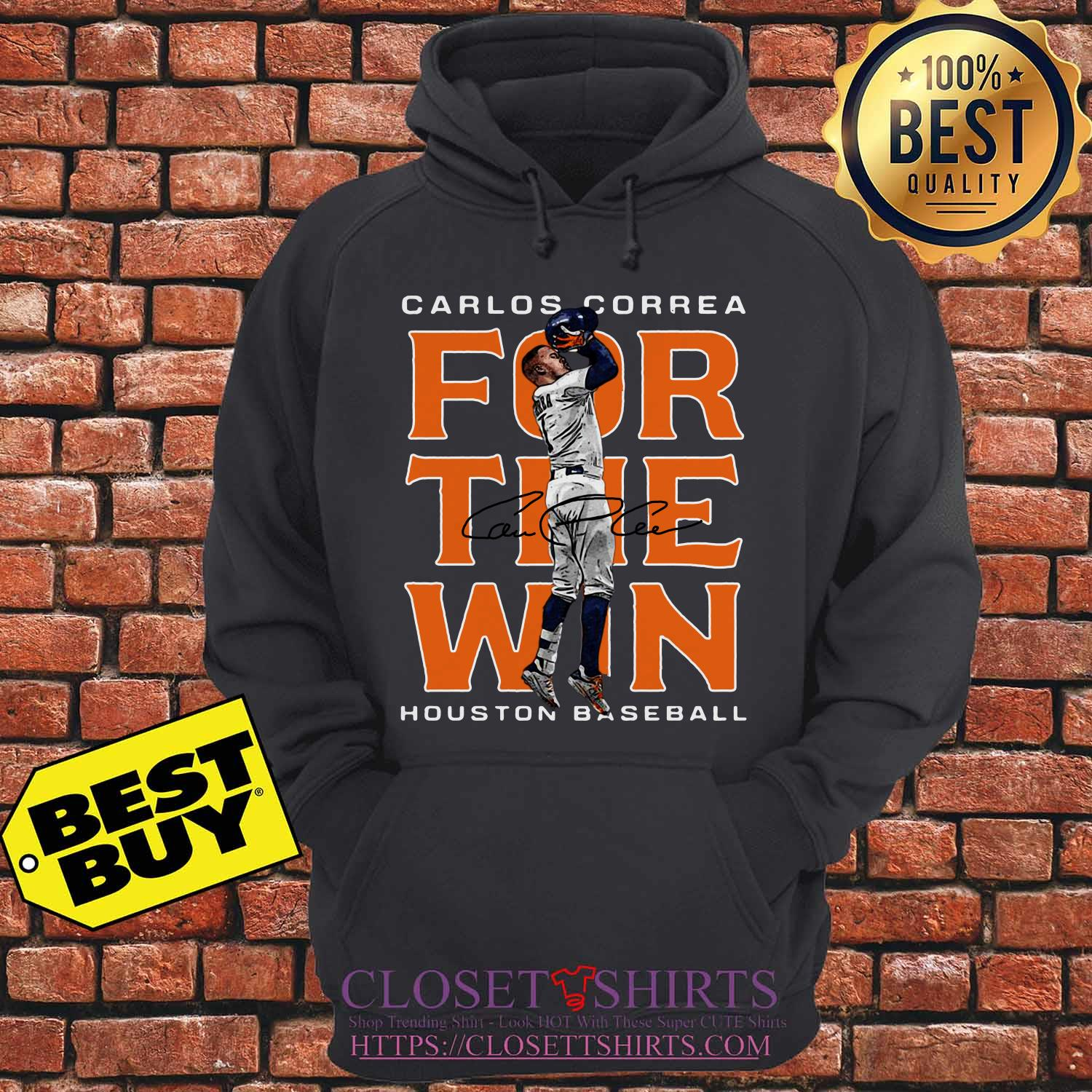 Carlos Correa Houston Astros Baseball Signature hoodie
