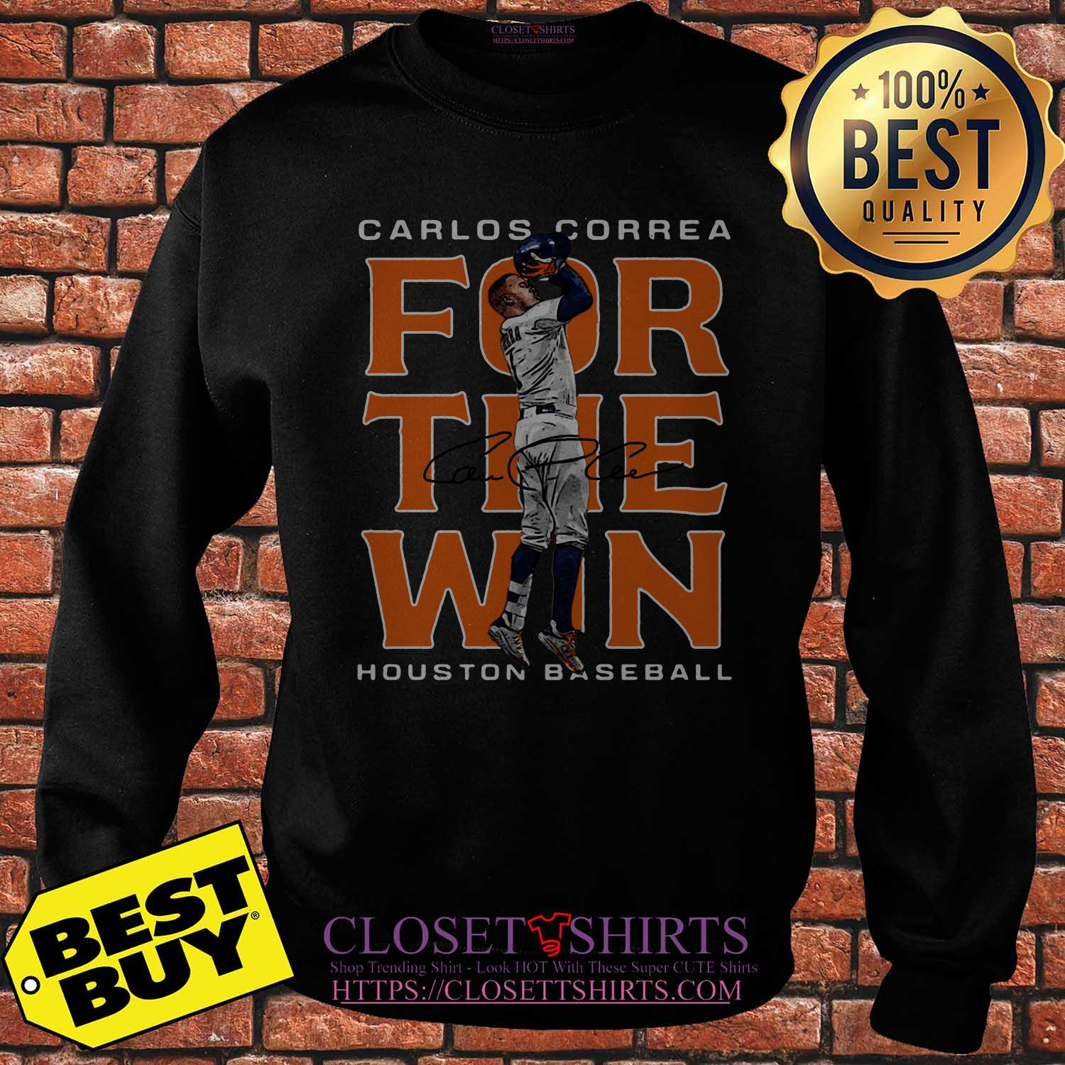 Carlos Correa Houston Astros Baseball Signature Sweatshirt