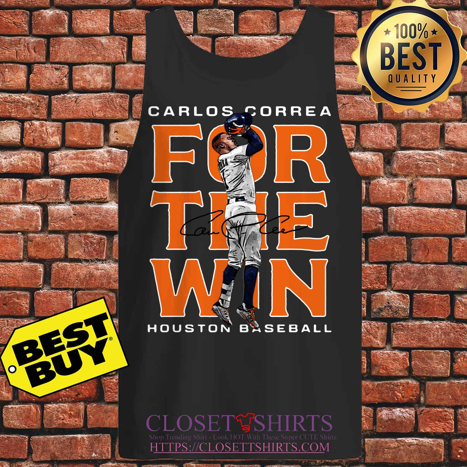 Carlos Correa Houston Astros Baseball Signature tank top