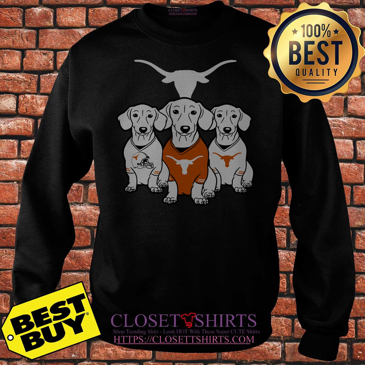 Official Dachshund Texas Longhorns Sweatshirt