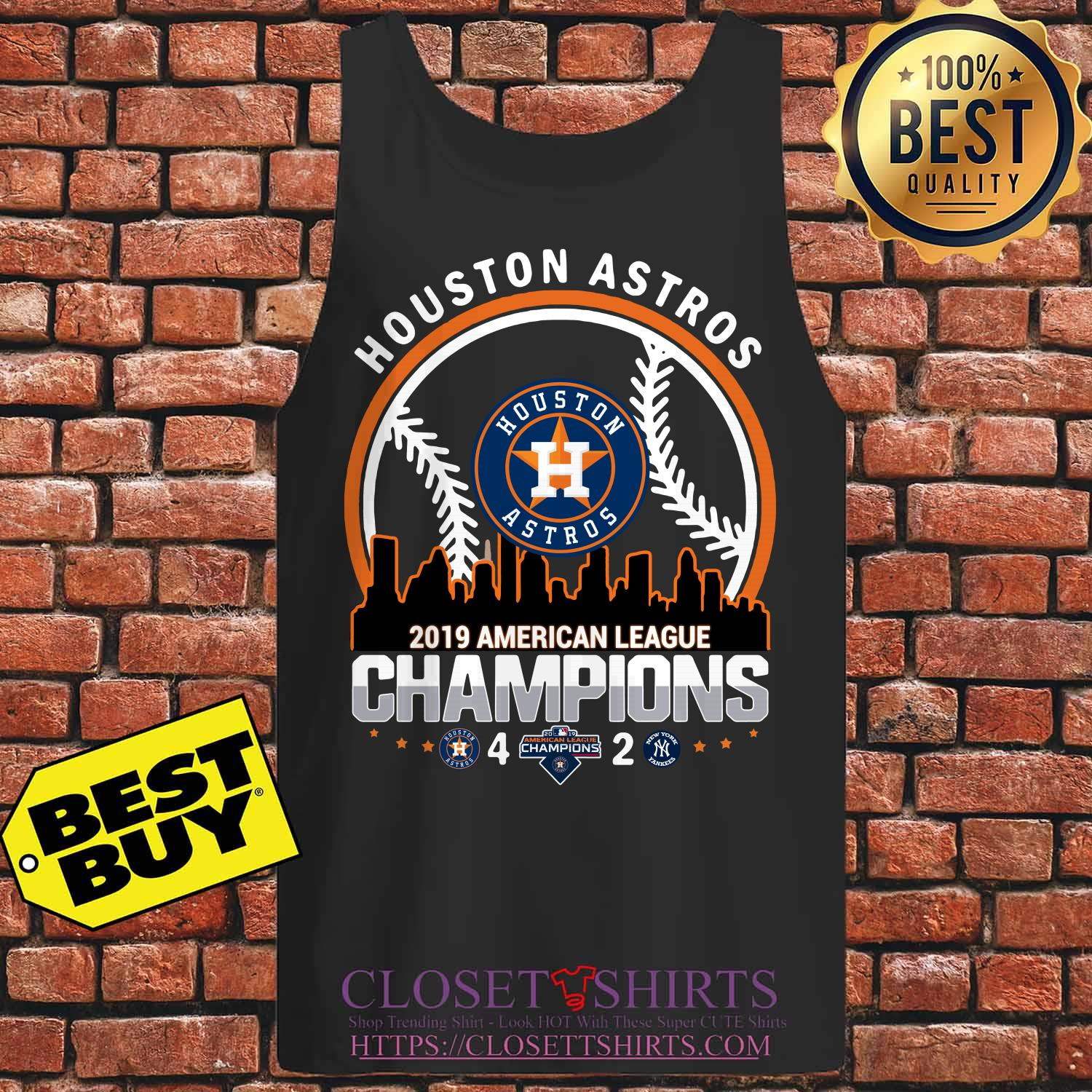 Houston Astros 4 2 New York Yankees American League Champions 2019 Building Tank Top