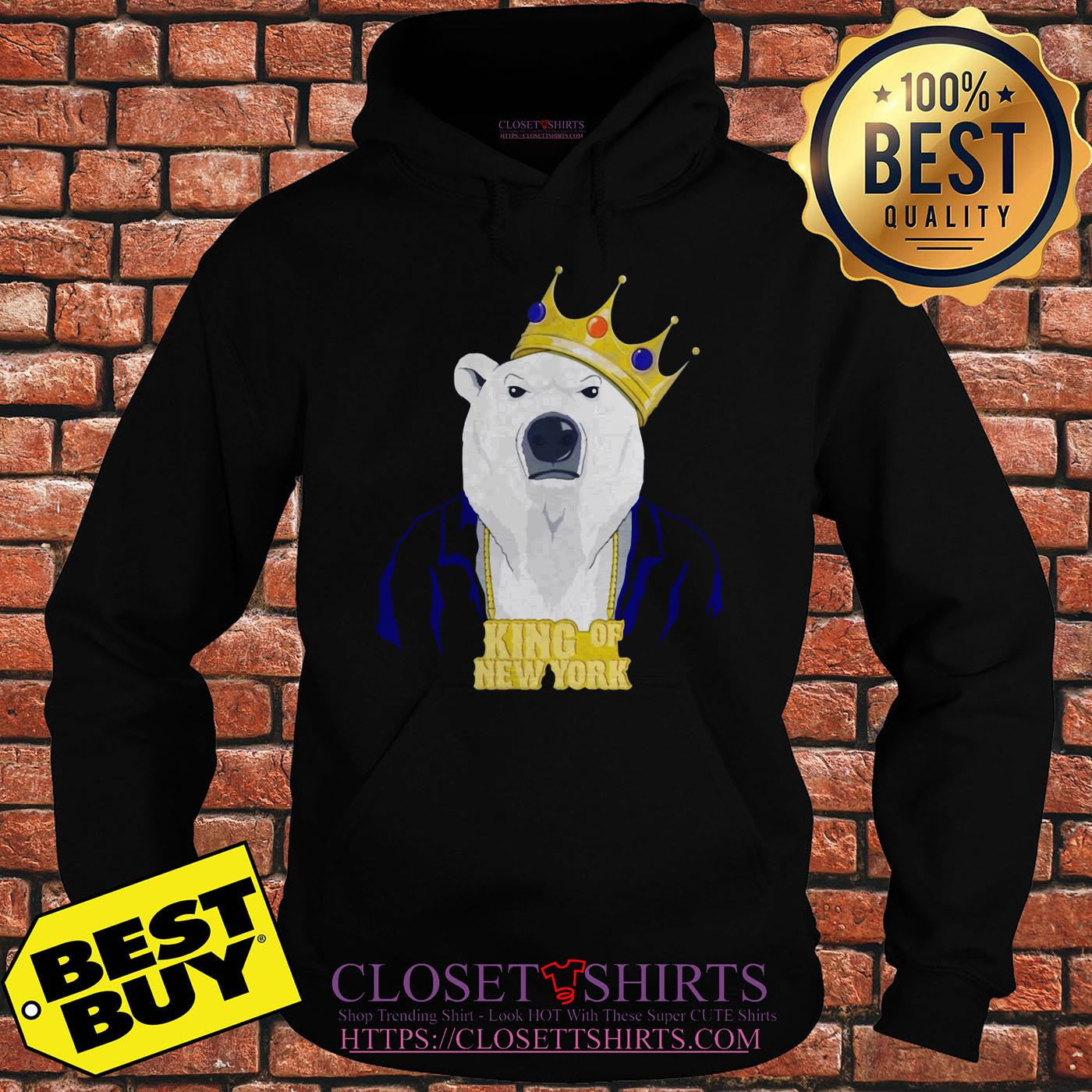King Of New York Pete Alonso Polar Bear New York Mets hoodie