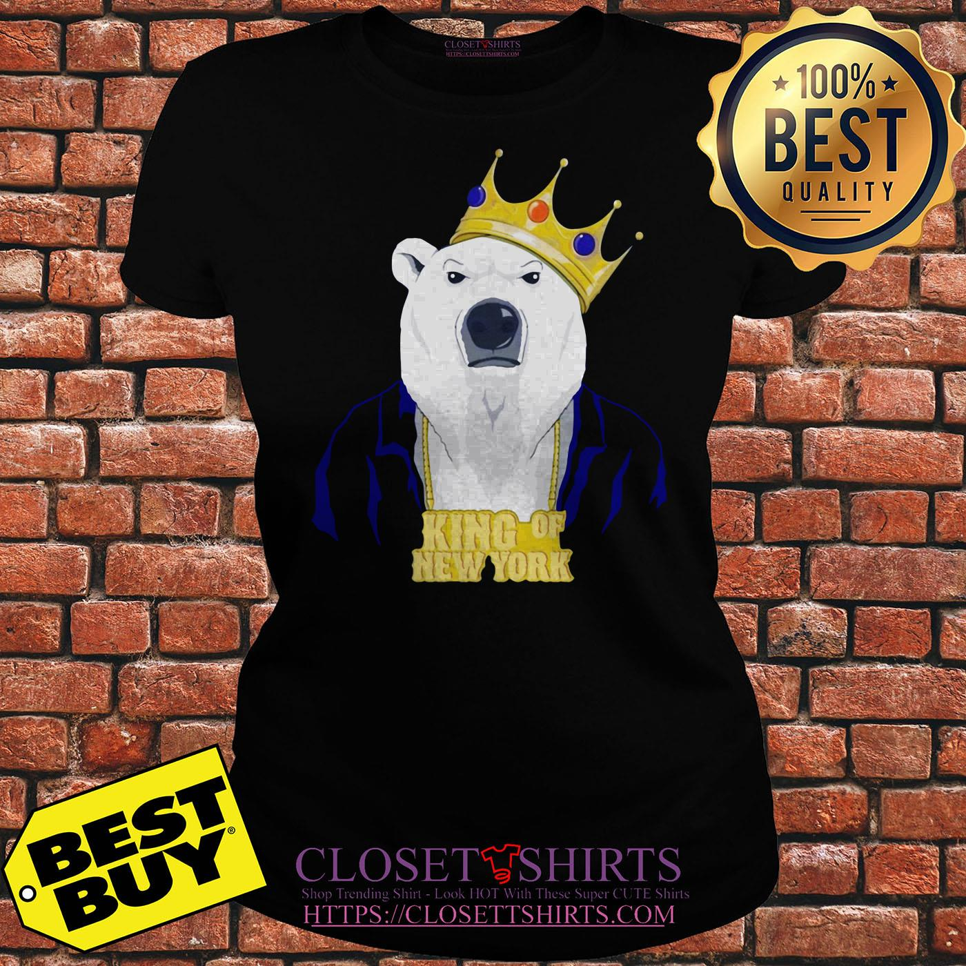 King Of New York Pete Alonso Polar Bear New York Mets ladies tee