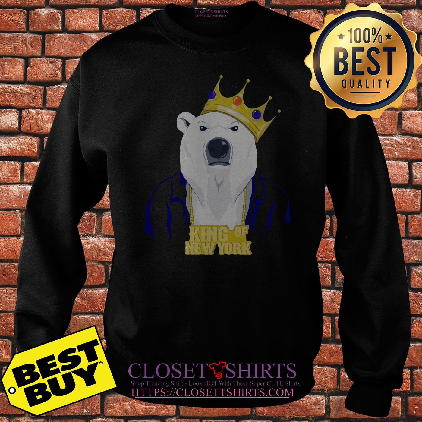 King Of New York Pete Alonso Polar Bear New York Mets sweatshirt