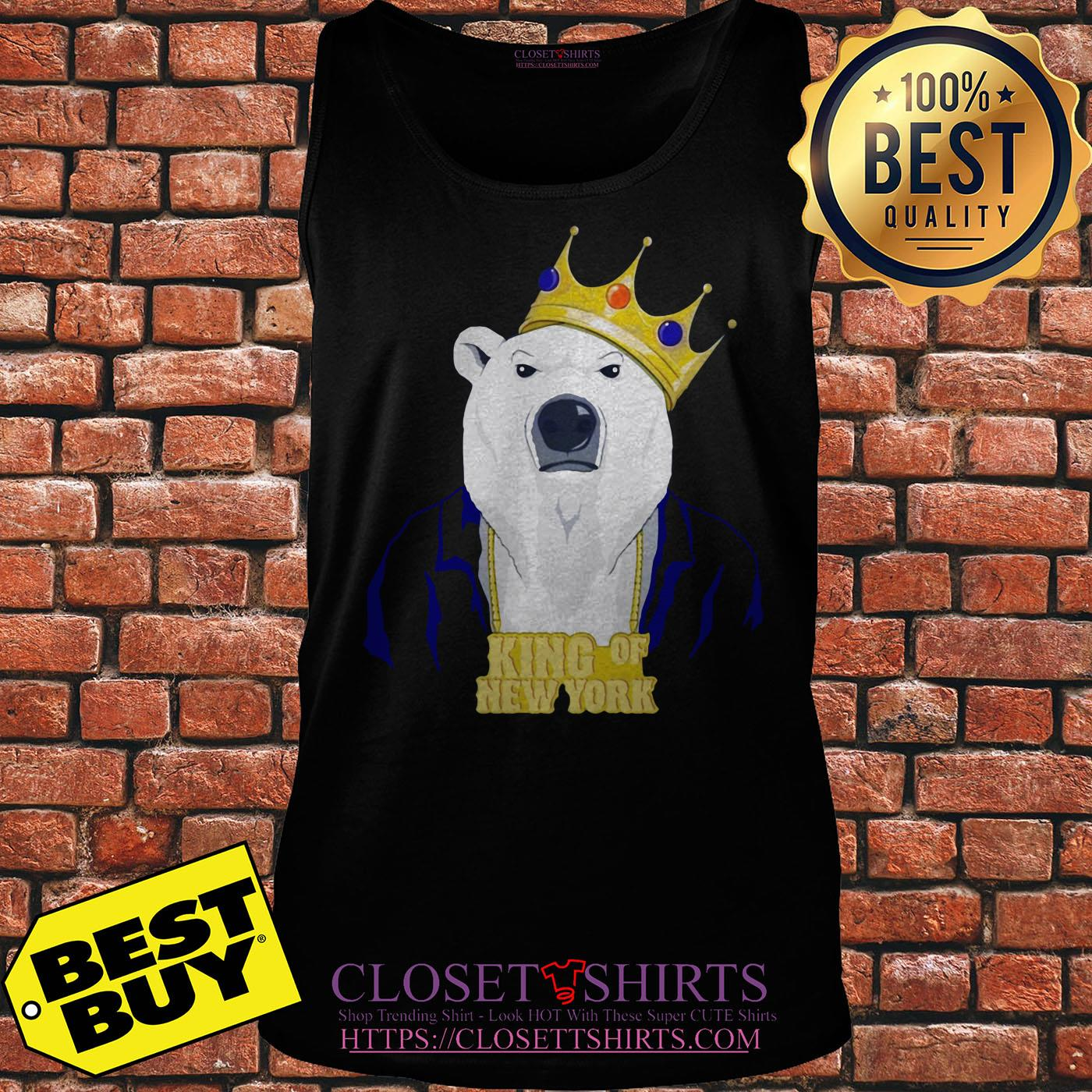 King Of New York Pete Alonso Polar Bear New York Mets Tank top
