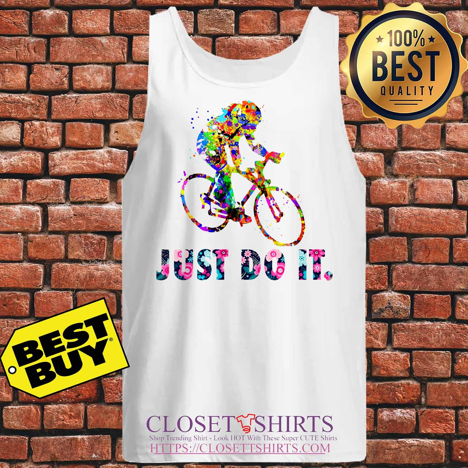 Lgbt Water Color Just Do Itflower tank top
