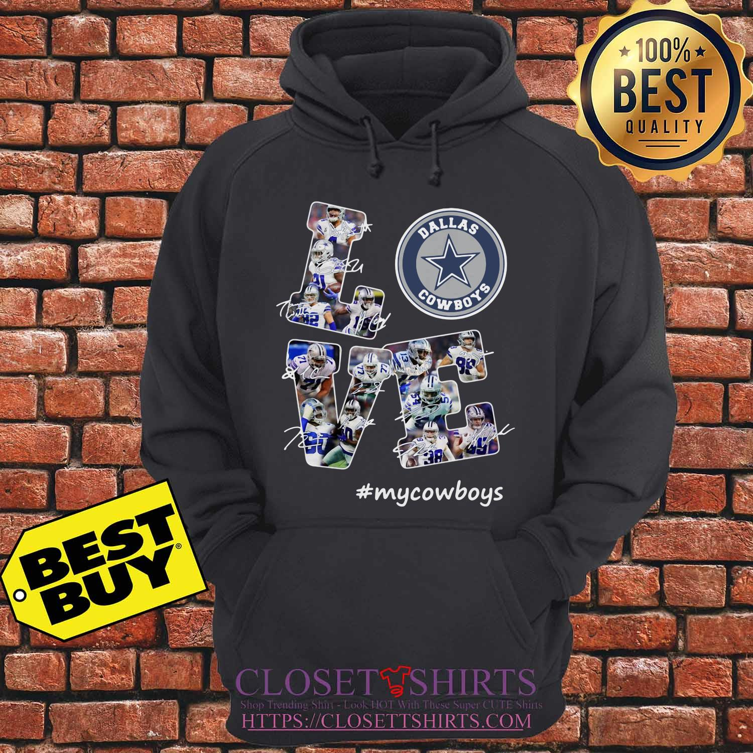 Love Dallas Cowboys My Cowboys Signatures hoodie