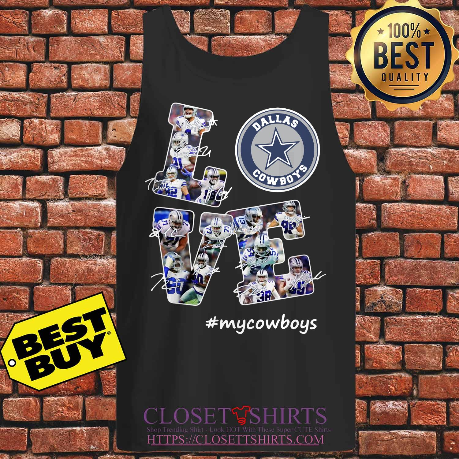 Love Dallas Cowboys My Cowboys Signatures tank top