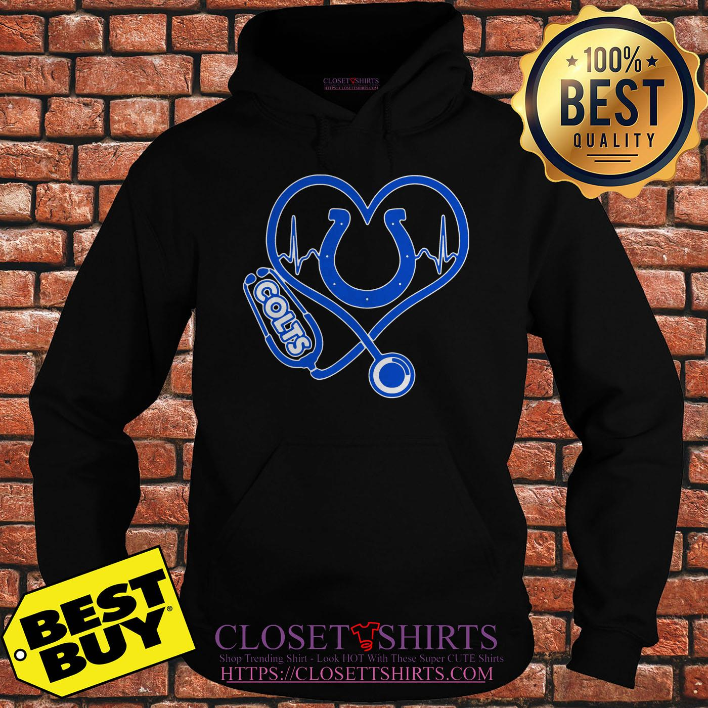 Nurse Heartbeat Love Indianapolis Colts hoodie