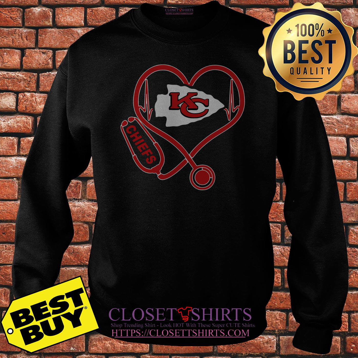 Nurse Heartbeat Love Kansas City Chiefs sweatshirt