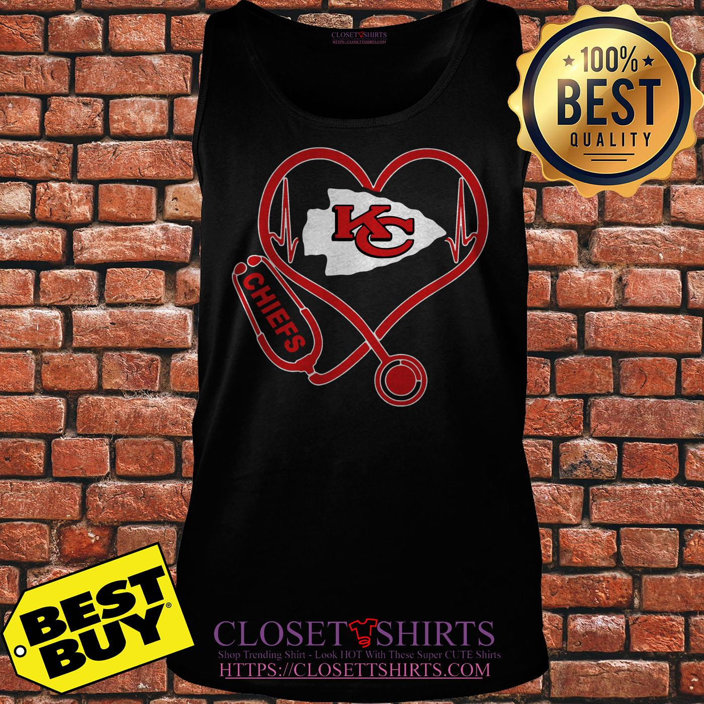 Nurse Heartbeat Love Kansas City Chiefs tank top