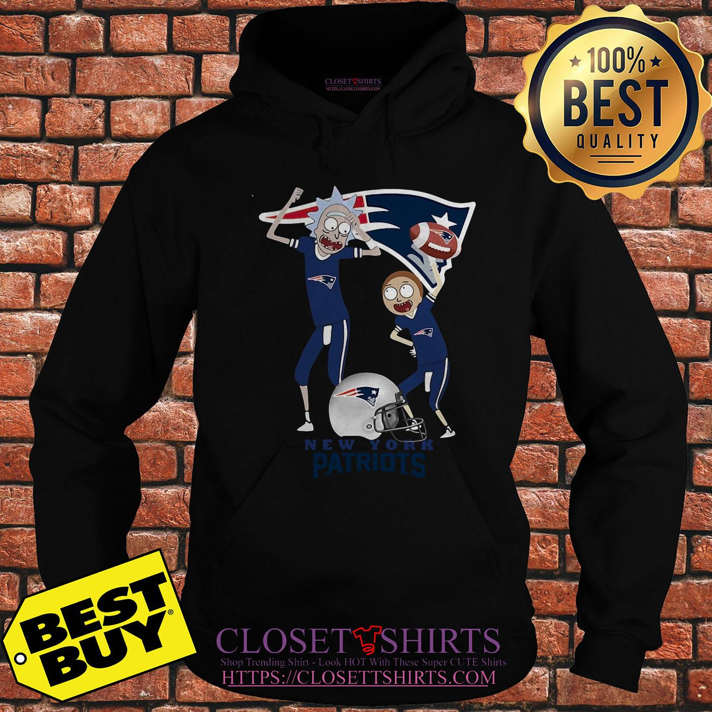 Rick And Morty New England Patriots Nfl Happy Winner hoodie
