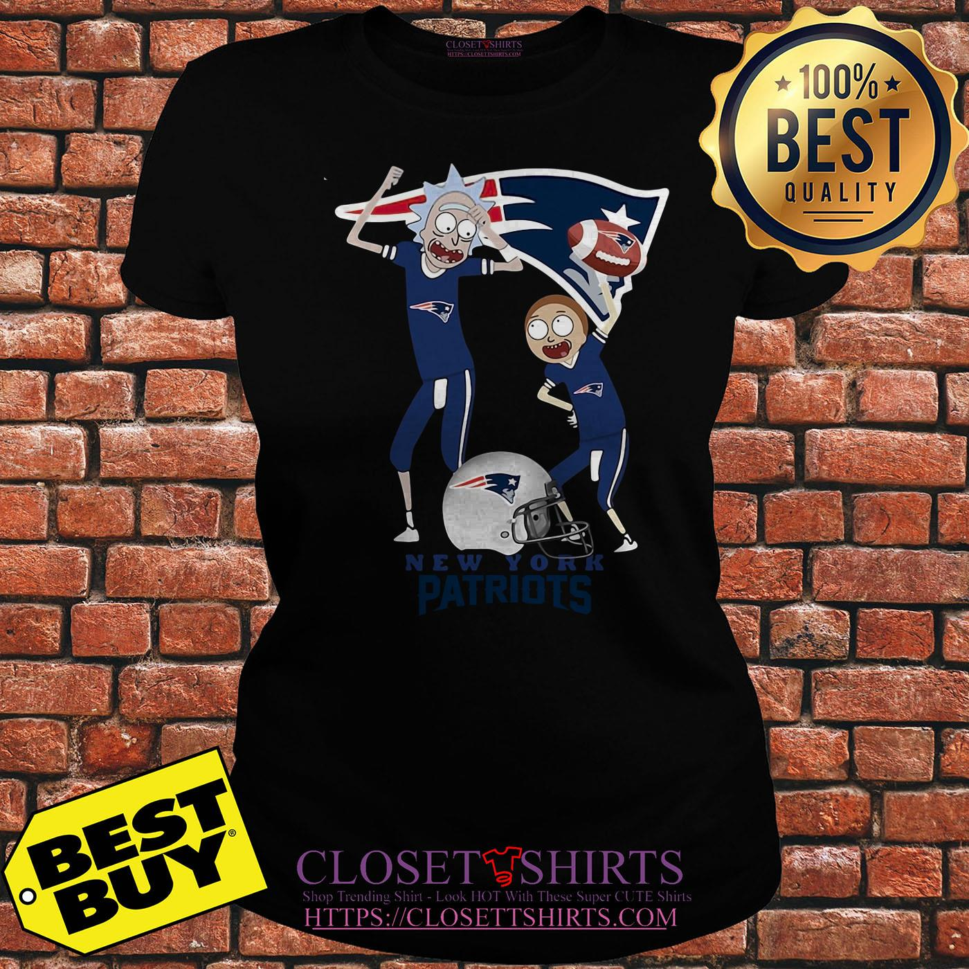 Rick And Morty New England Patriots Nfl Happy Winner ladies tee