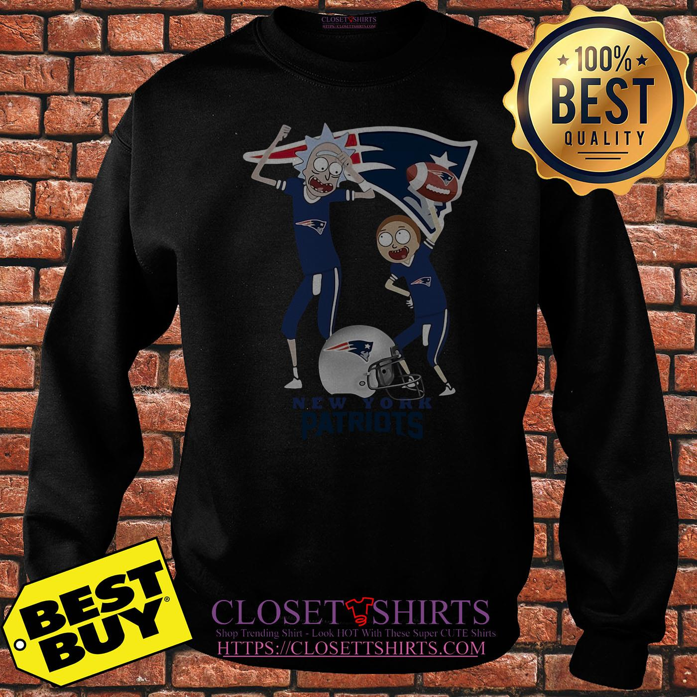 Rick And Morty New England Patriots Nfl Happy Winner sweatshirt