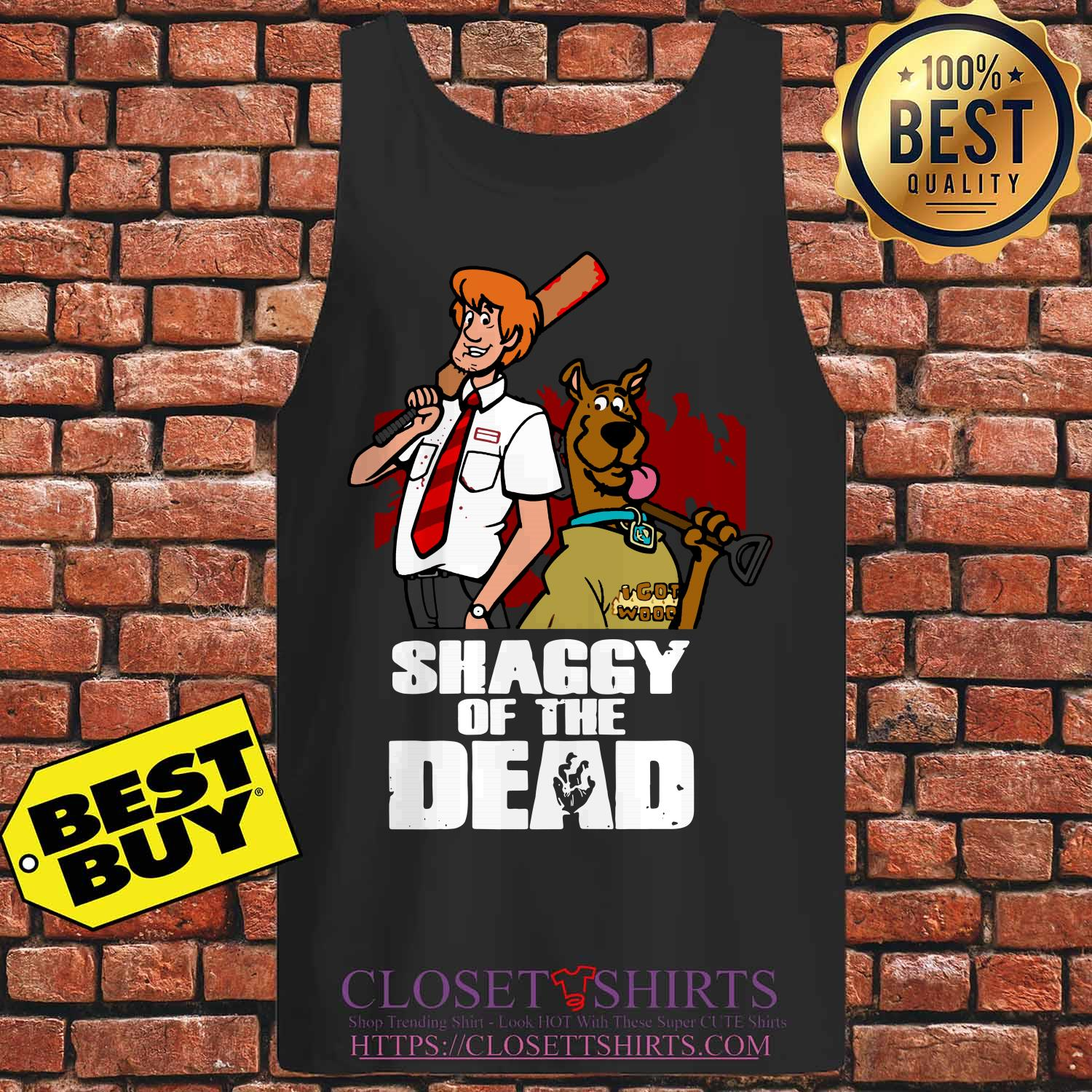 Scooby Doo And Shaggy Of The Dead Baseball tank top