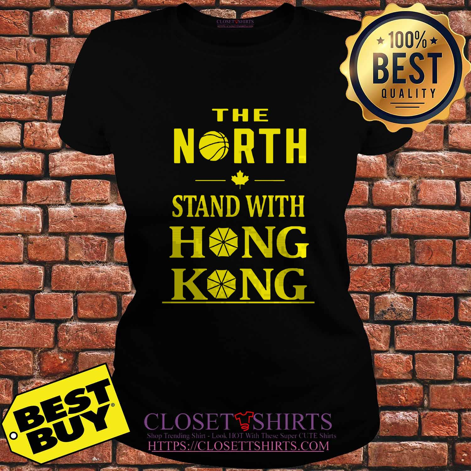 The North Stand With Hong Kong ladies tee