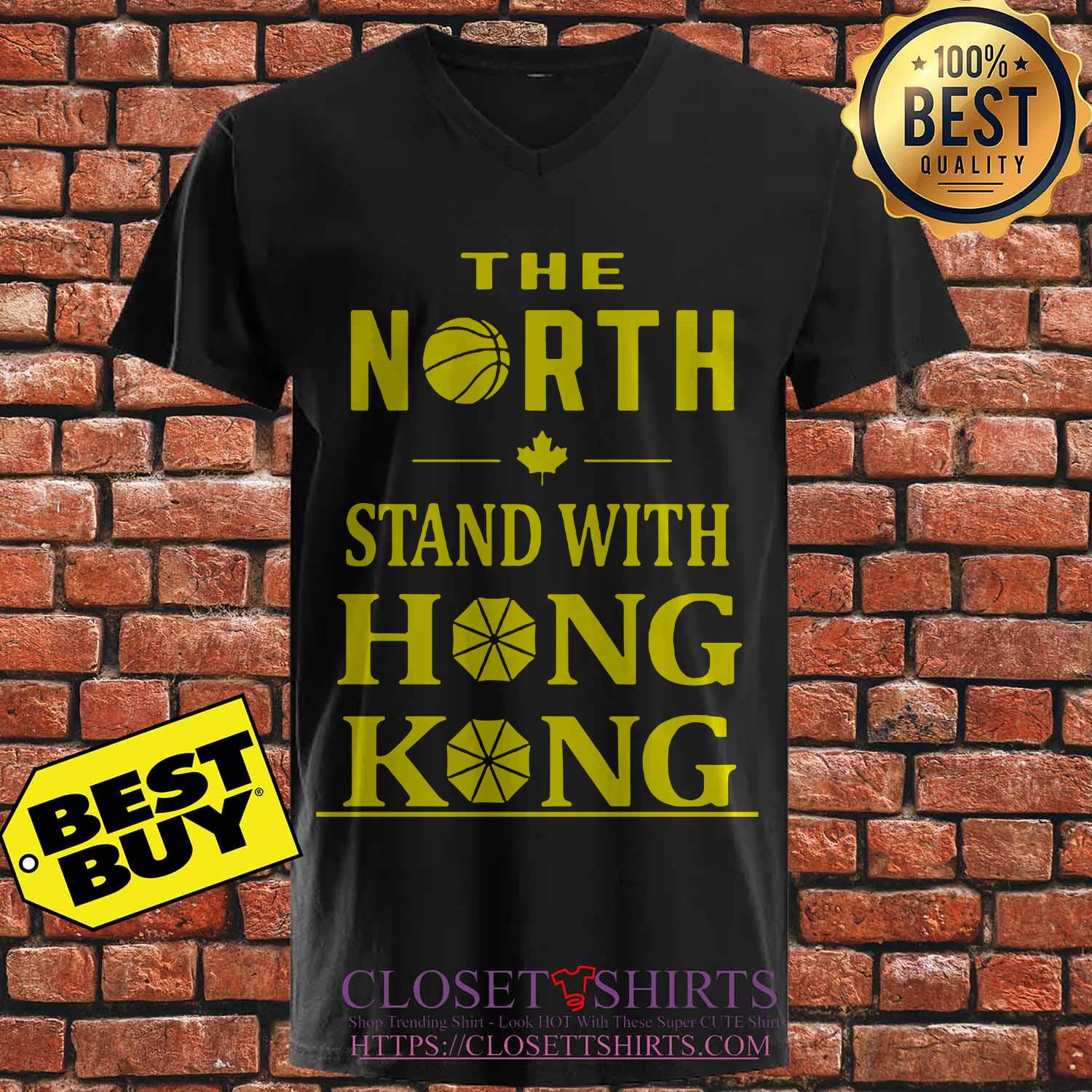The North Stand With Hong Kong v neck