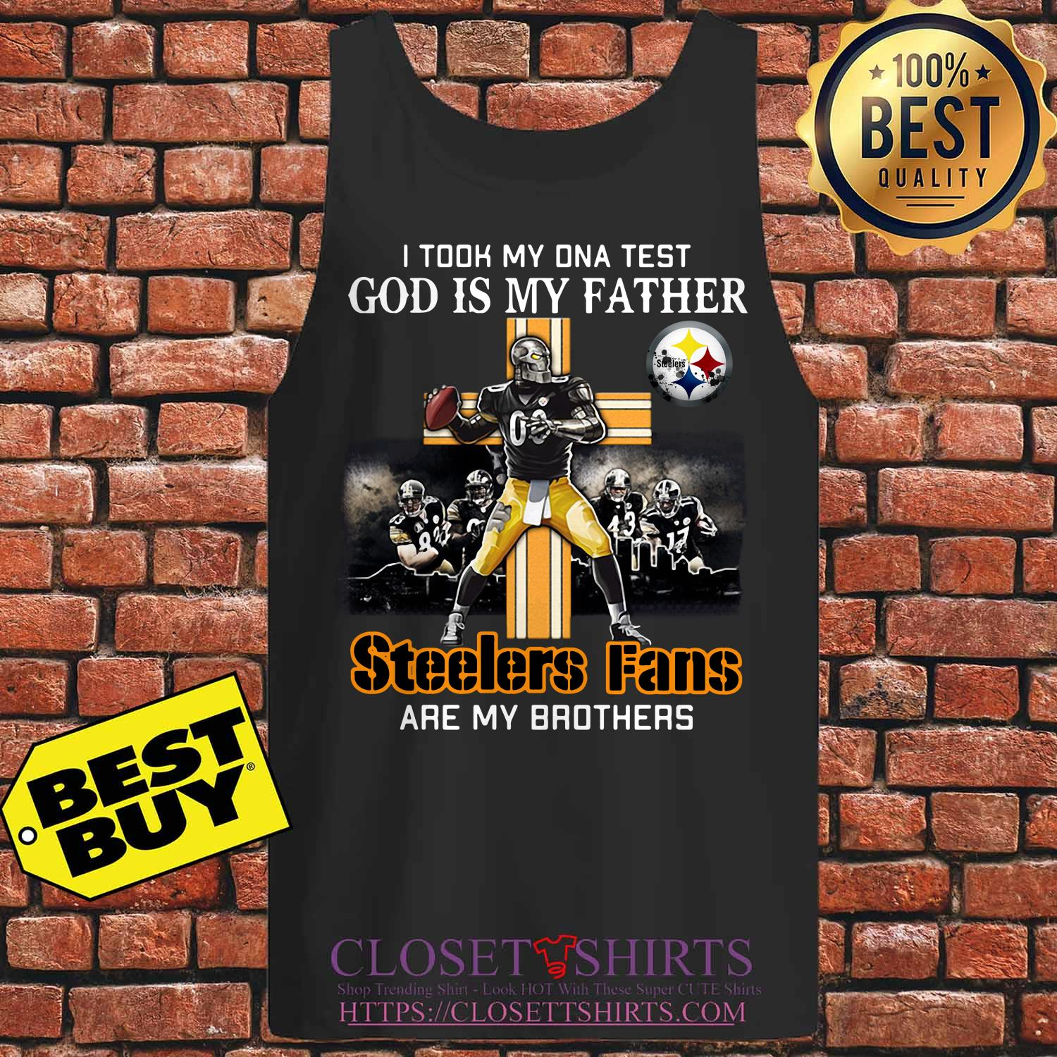 Took Dna Test God Father Pittsburgh Steelers Fans Brothers Tank Top
