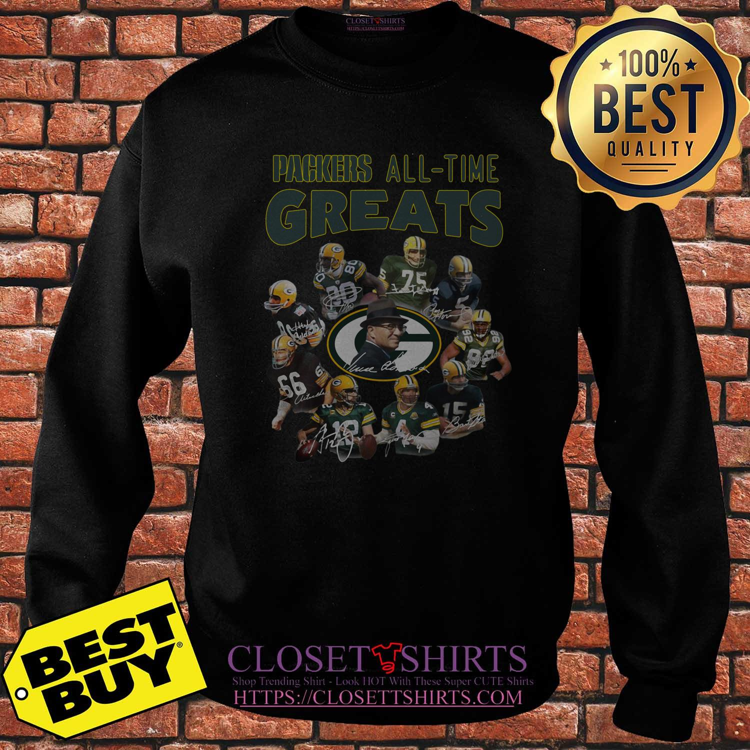Green Bay Packers Players All Time Greats Signatures sweatshirt