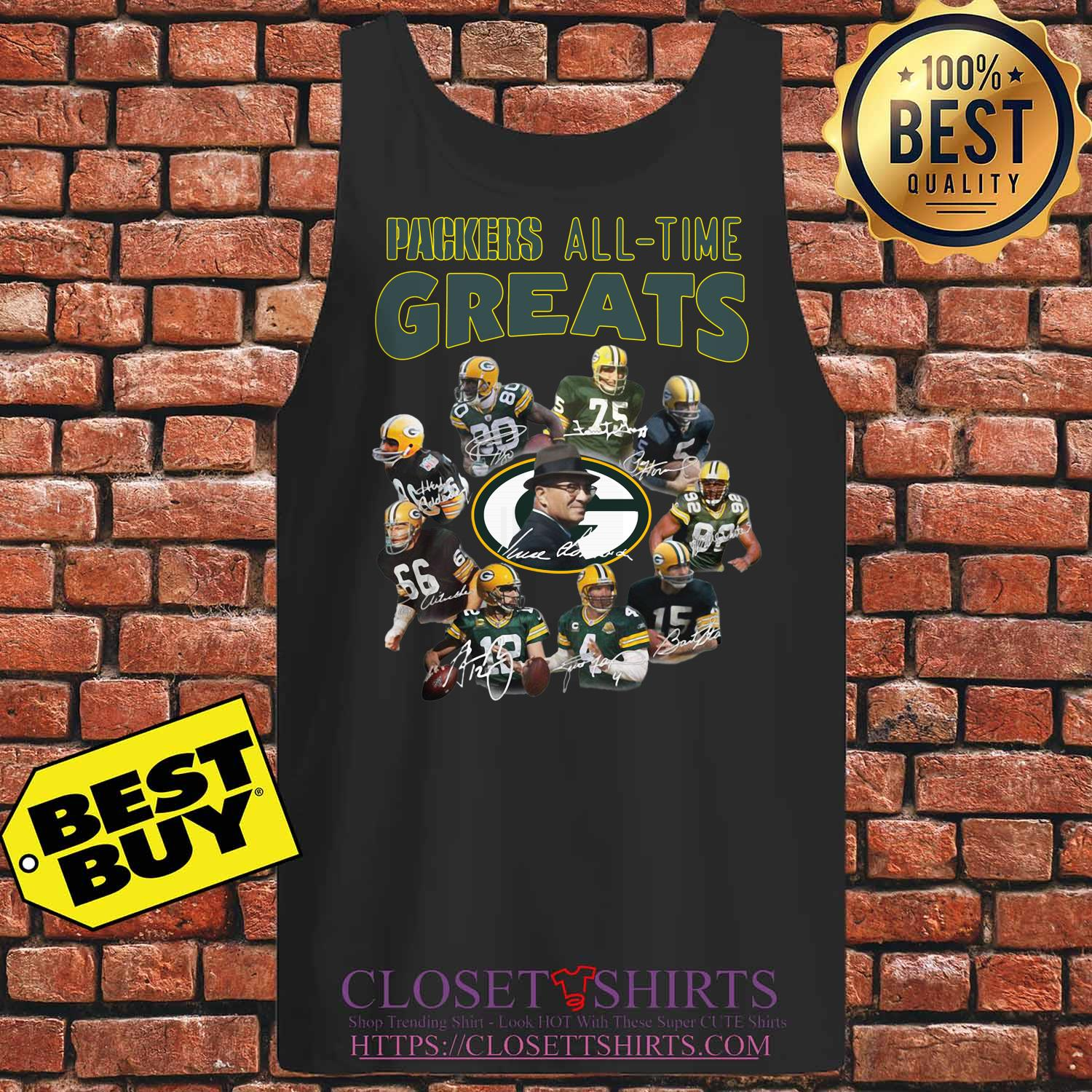 Green Bay Packers Players All Time Greats Signatures tank top
