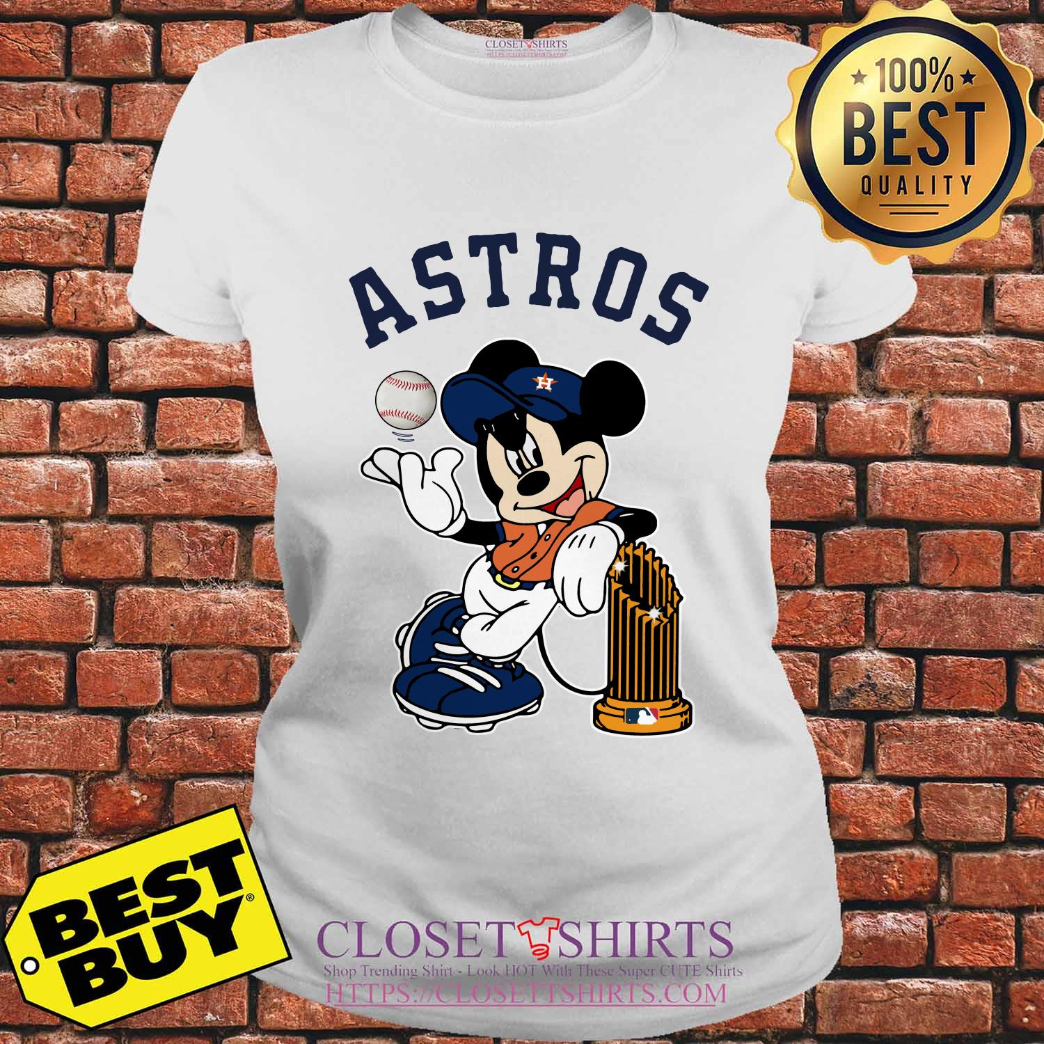 Houston Astros Mickey Mouse Disney Teams ladies tee