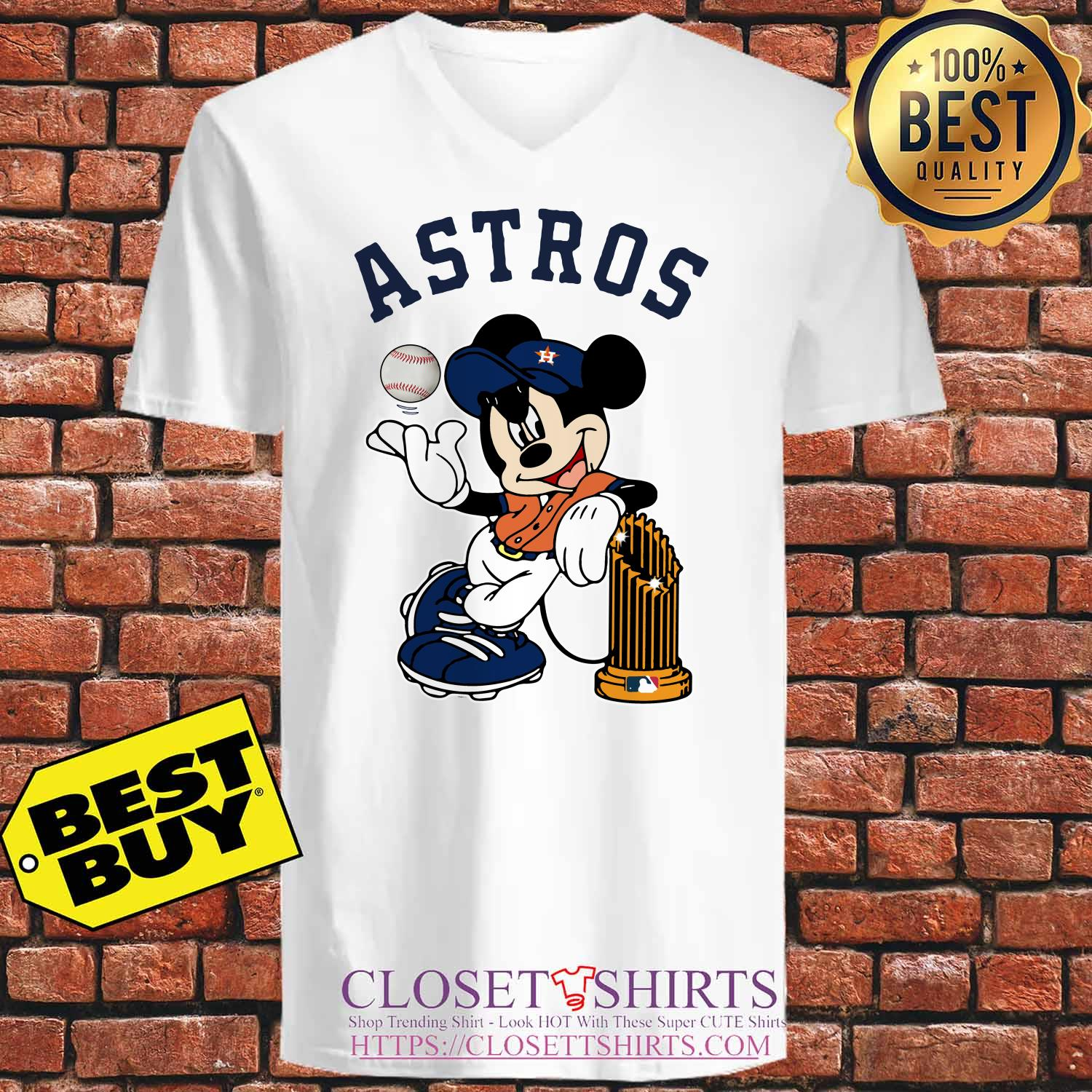 Houston Astros Mickey Mouse Disney Teams v neck