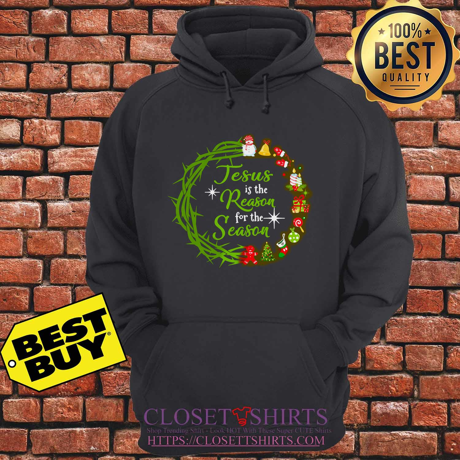Jesus Is The Reason For The Season Christmas Wreath Shirt