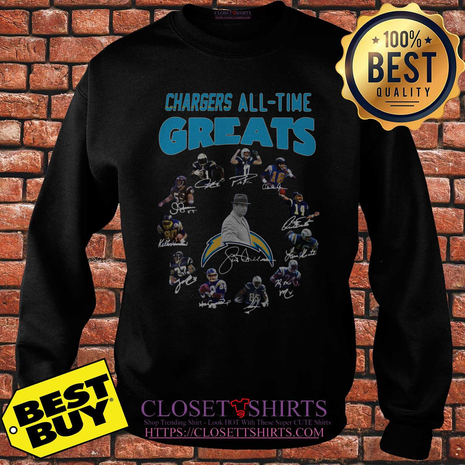 Los Angeles Chargers Players All Time Greats Signatures sweatshirt