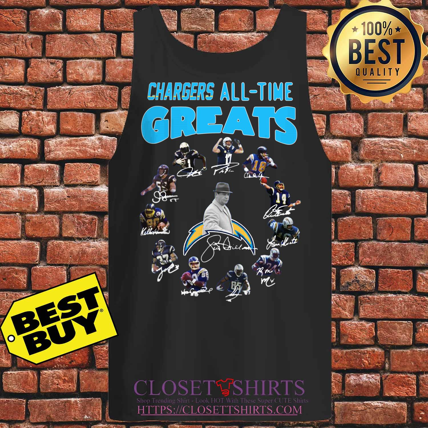 Los Angeles Chargers Players All Time Greats Signatures tank top