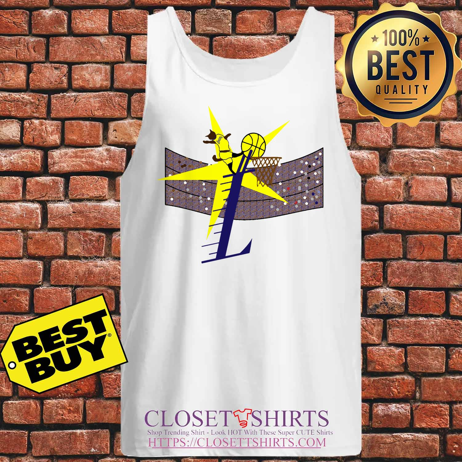 Los Angeles Lakers Basketball Cat Player tank top