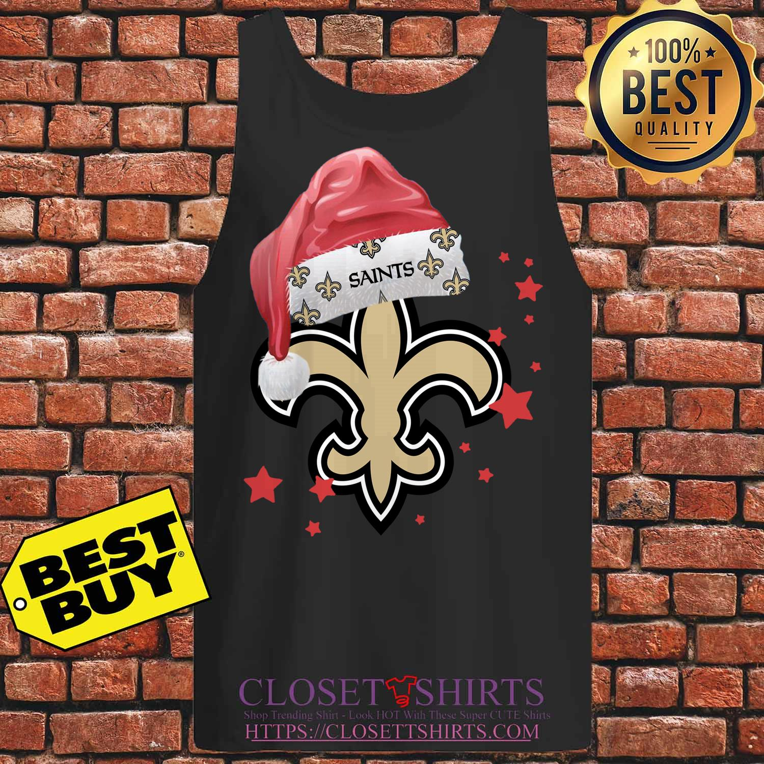 New Orleans Saints Merry Christmas tank top