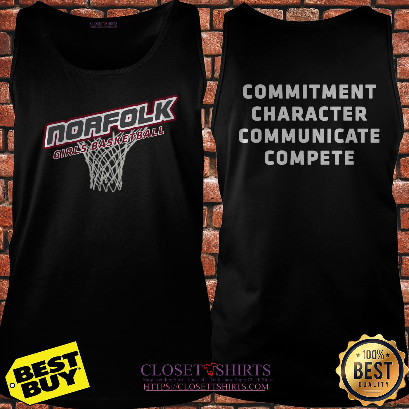Norfolk Girls Basketball Commitment Character Communicate Compete tank top