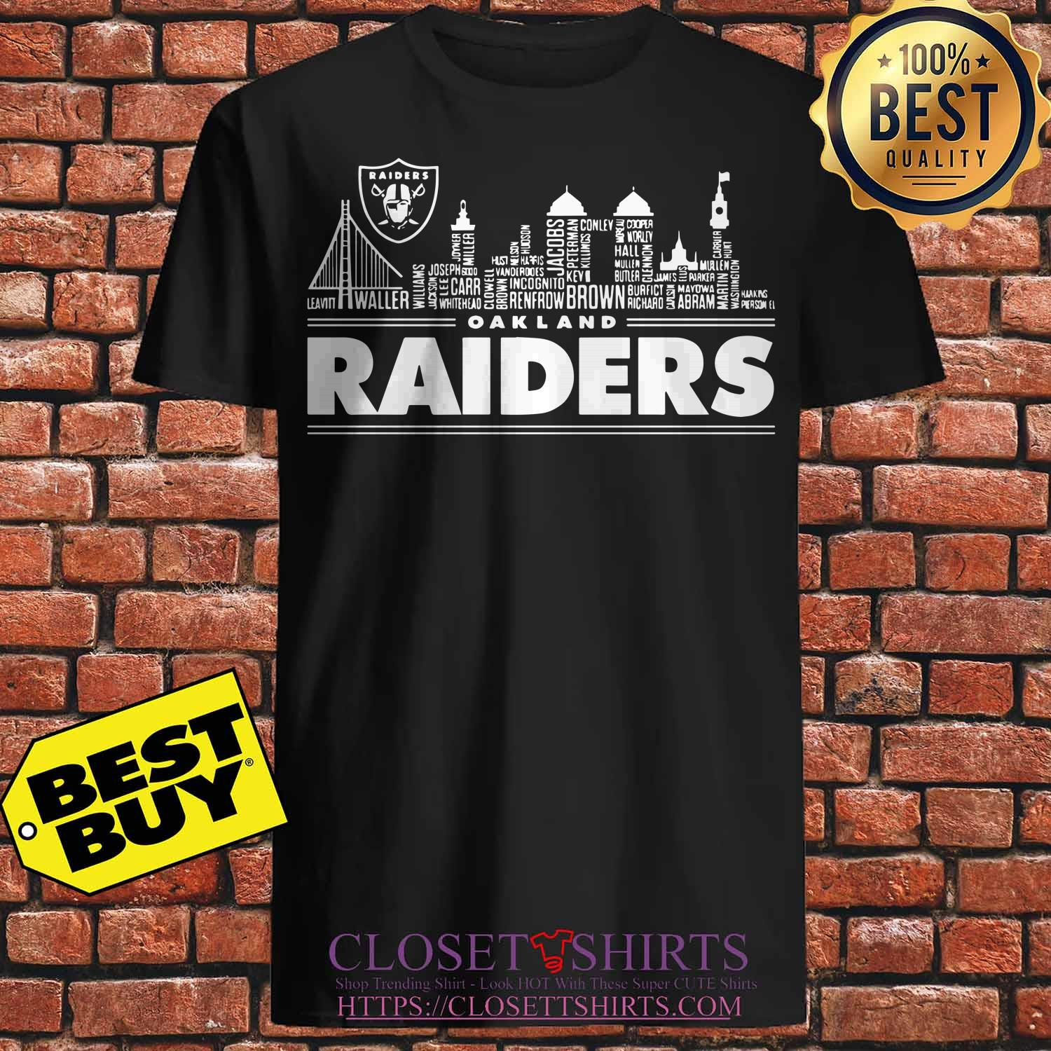 Oakland Raiders Building Players Shirt