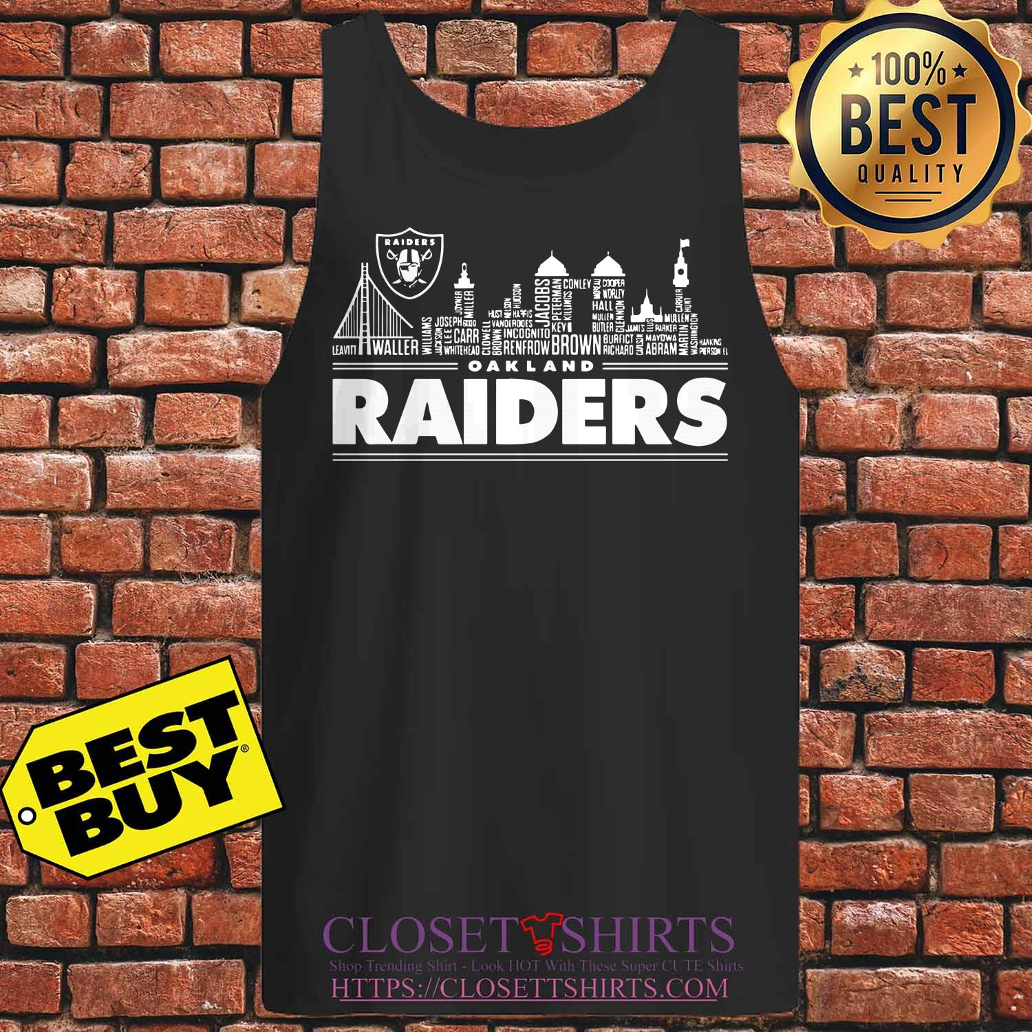 Oakland Raiders Building Players tank top