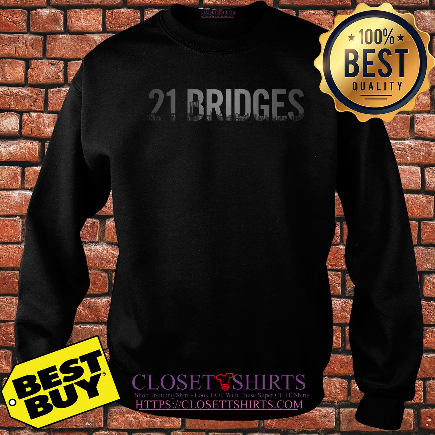 Official 21 Bridges Movie sweatshirt
