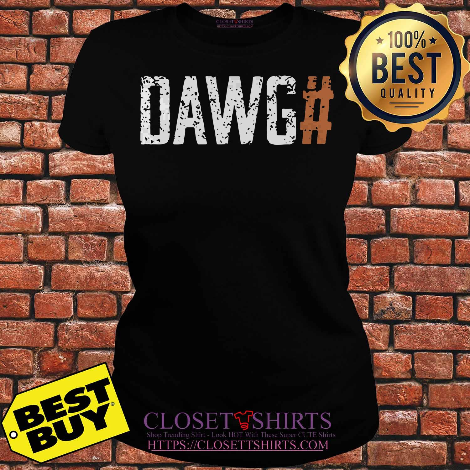 Official Cleveland Browns Dawg# ladies tee