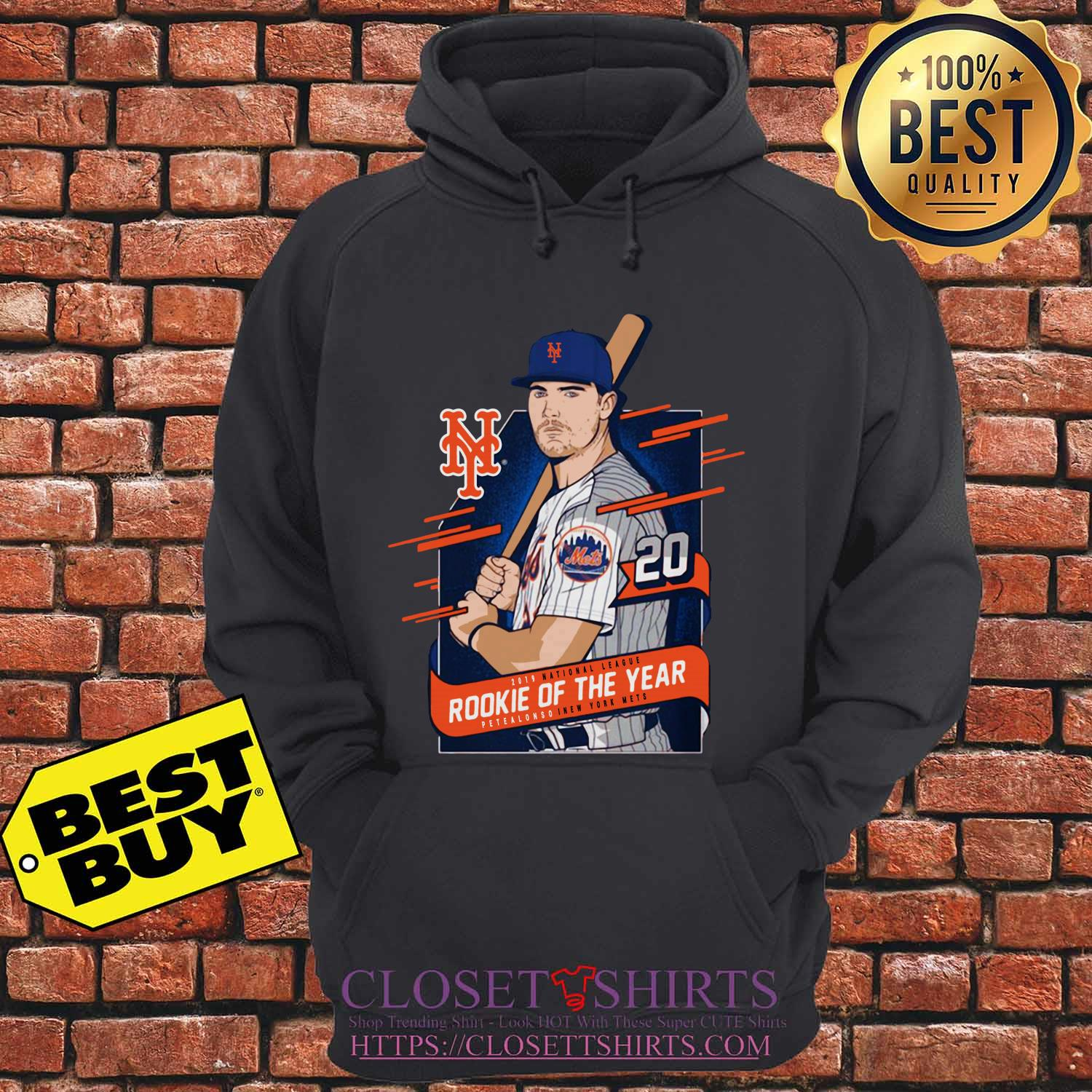 Pete Alonso New York Mets 2019 National League Rookie Of The Year hoodie