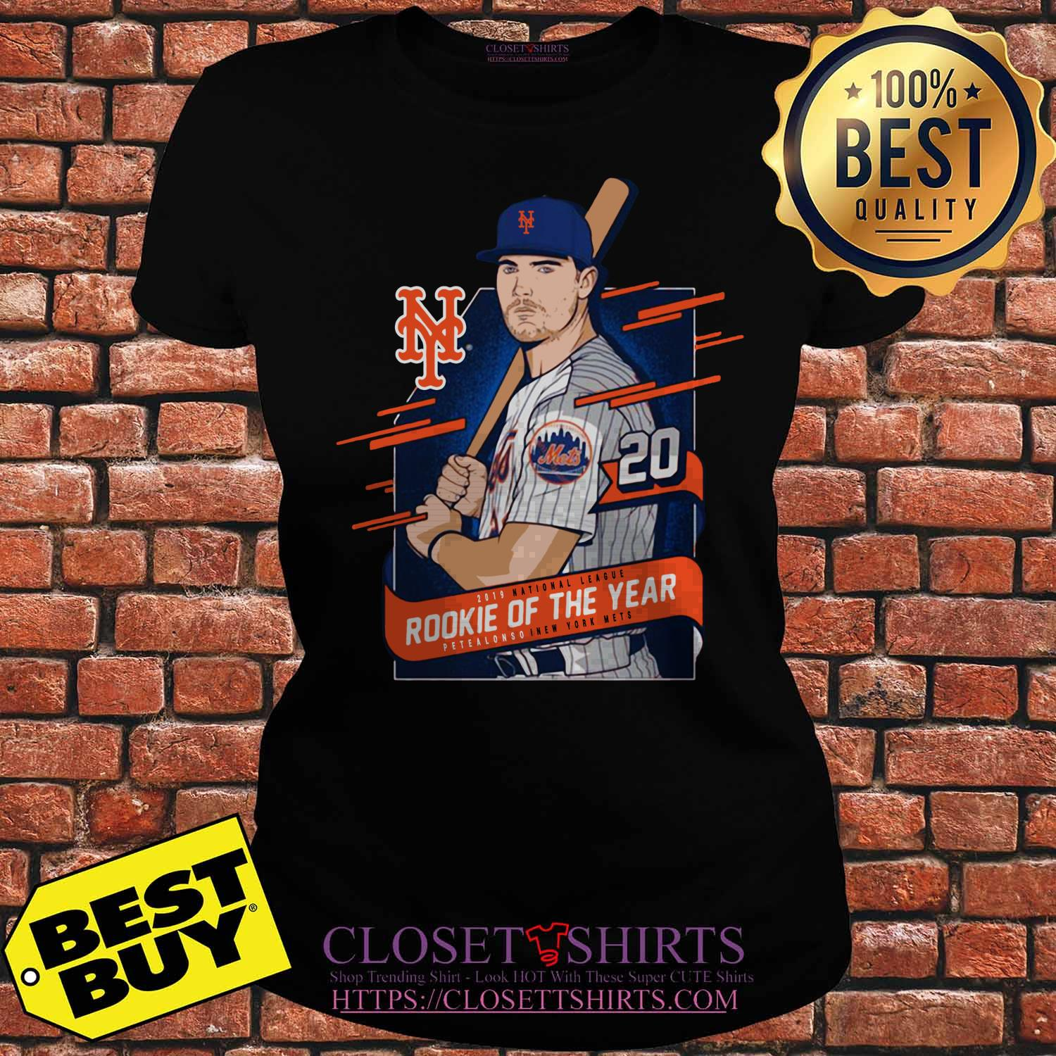 Pete Alonso New York Mets 2019 National League Rookie Of The Year ladies tee