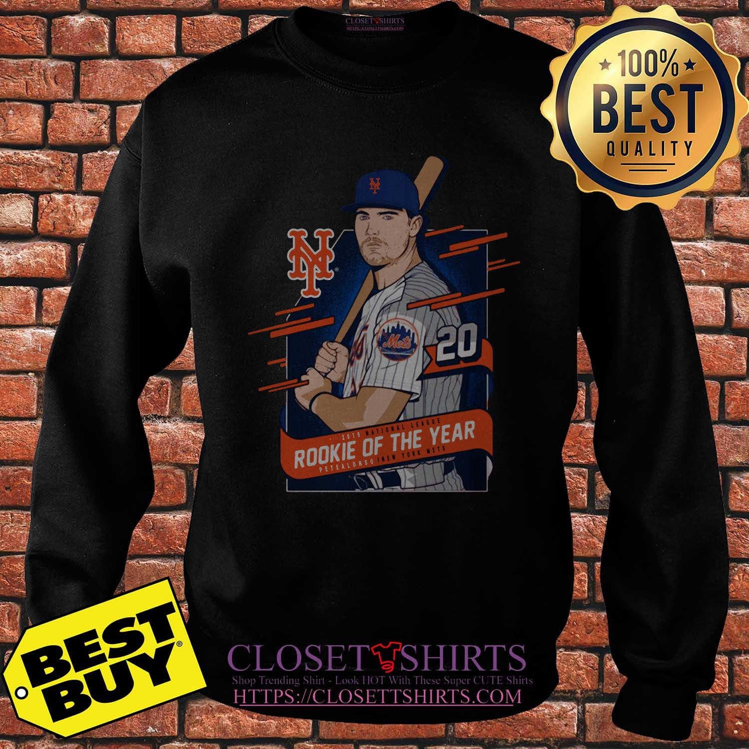 Pete Alonso New York Mets 2019 National League Rookie Of The Year sweatshirt