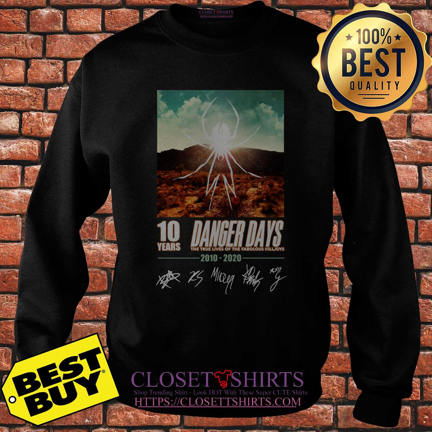 Spider 10 Years Danger Days True Lives Fabolous Killjoys 2010 2020 Signatures Sweatshirt