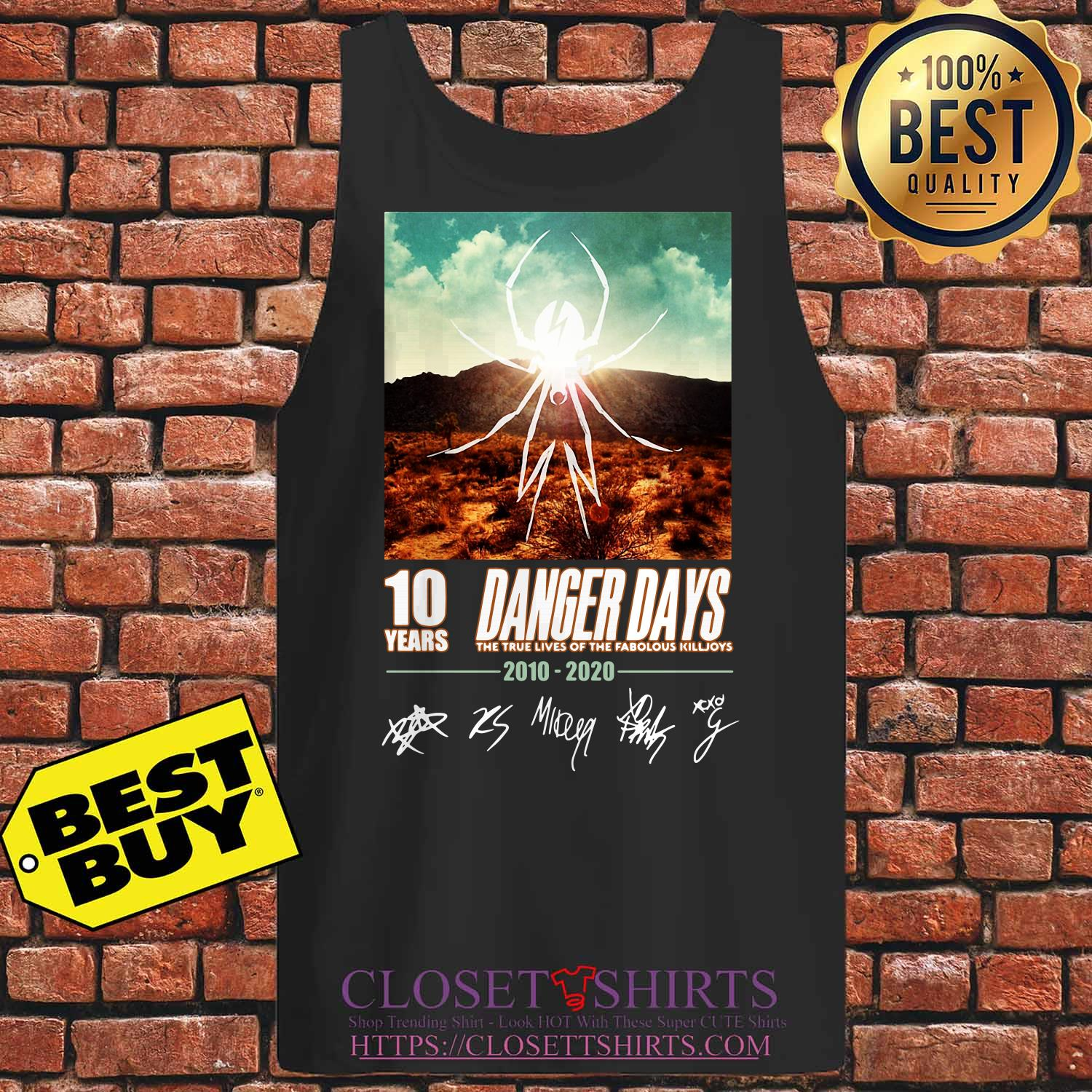 Spider 10 Years Danger Days True Lives Fabolous Killjoys 2010 2020 Signatures Tank Top