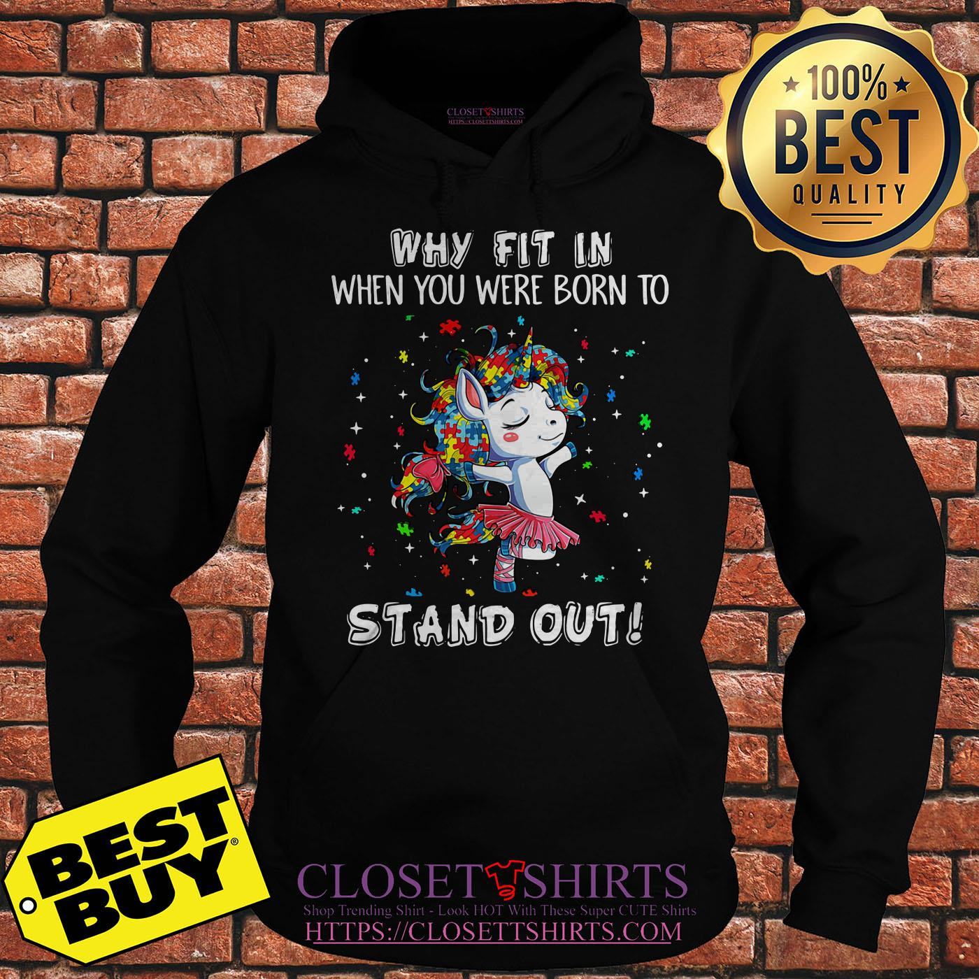 Unicorn Why Fit In When You Were Born Stand Out Puzzle hoodie